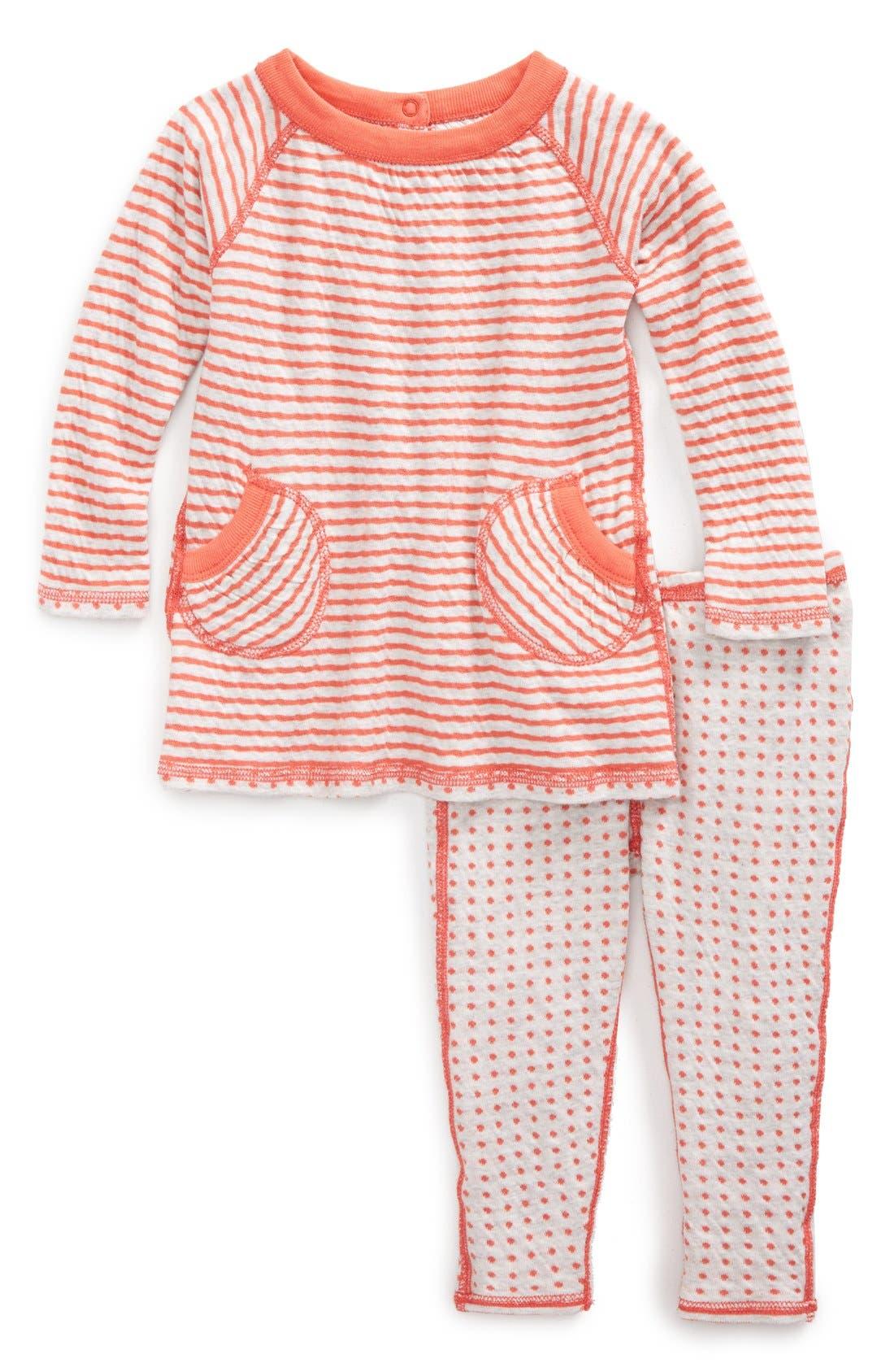 Organic Cotton Reversible Tunic & Pants,                             Alternate thumbnail 2, color,                             050