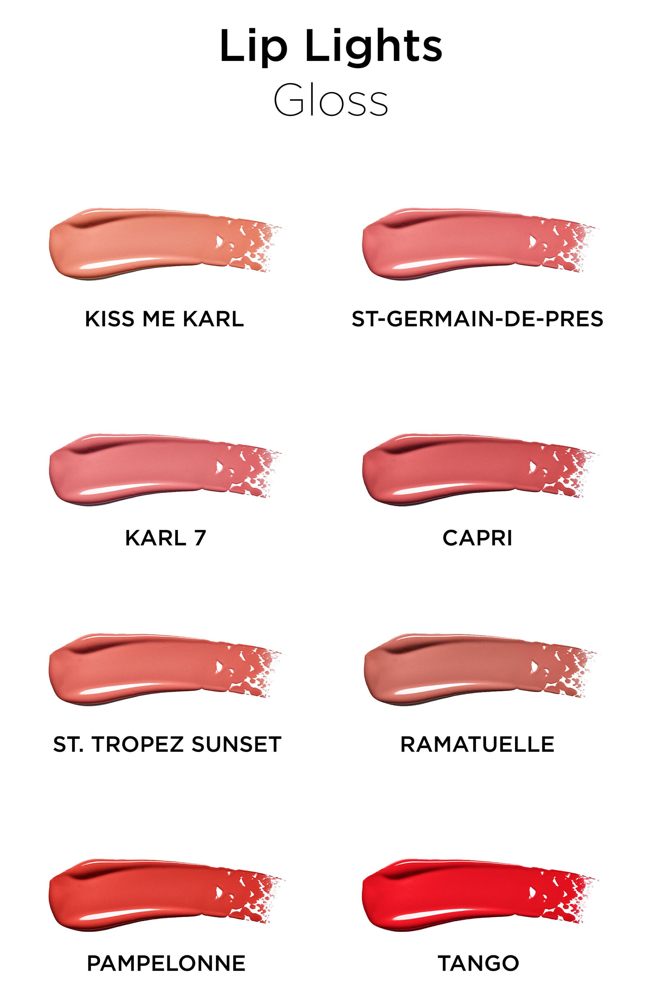KARL LAGERFELD + MODELCO Kiss Me Karl Lip Lights Lip Gloss,                             Alternate thumbnail 9, color,                             200