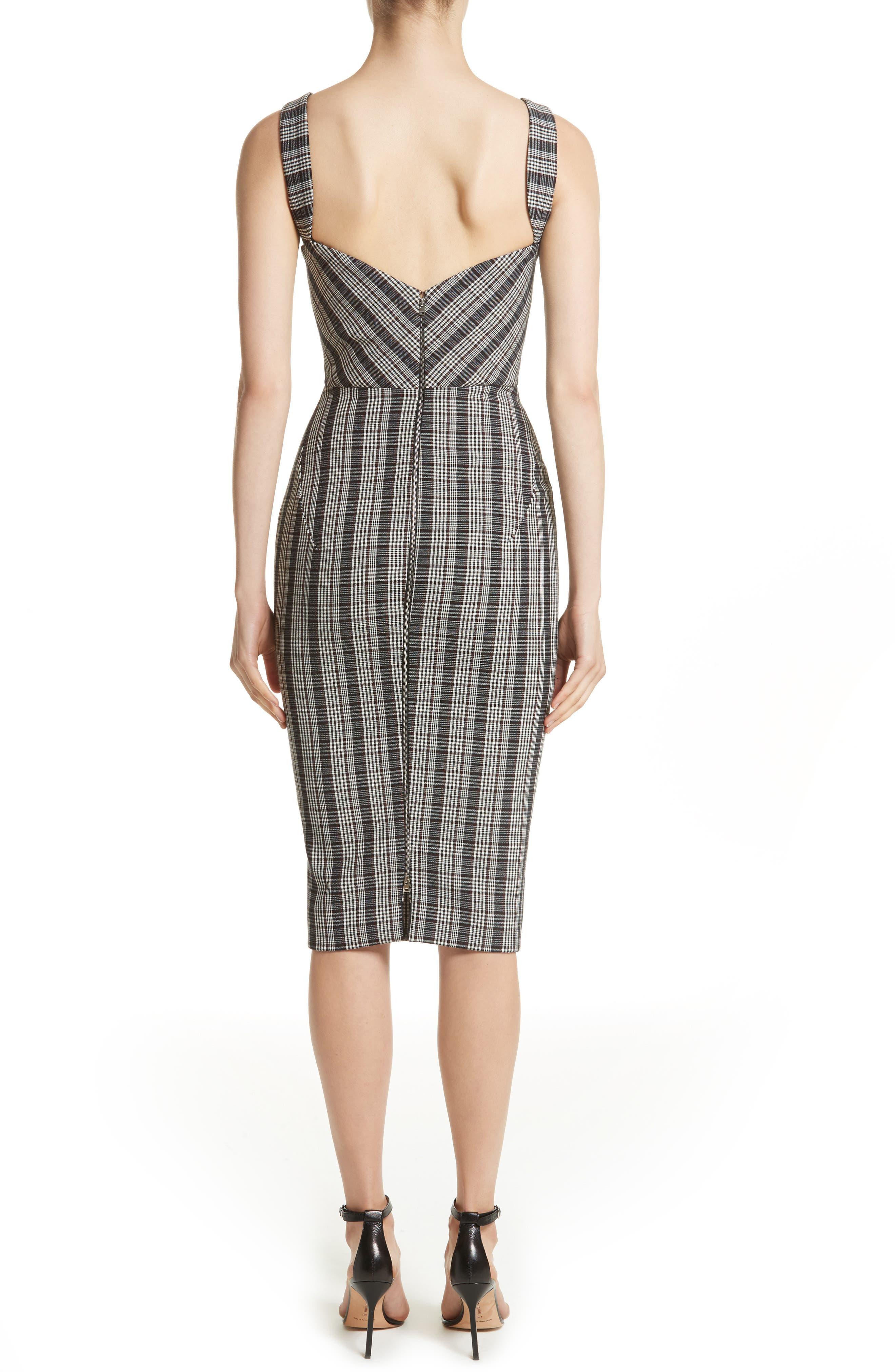 Plaid Curve Cami Dress,                             Alternate thumbnail 2, color,                             001
