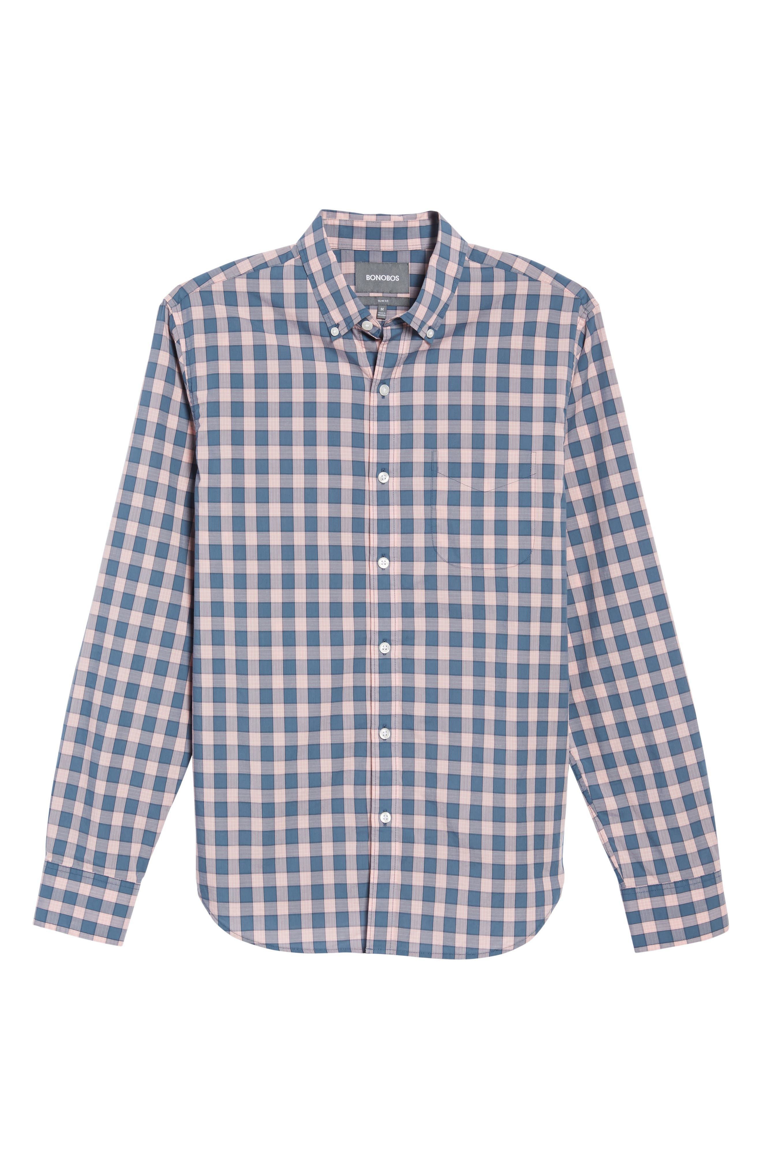 Summerweight Slim Fit Check Sport Shirt,                             Alternate thumbnail 6, color,                             650