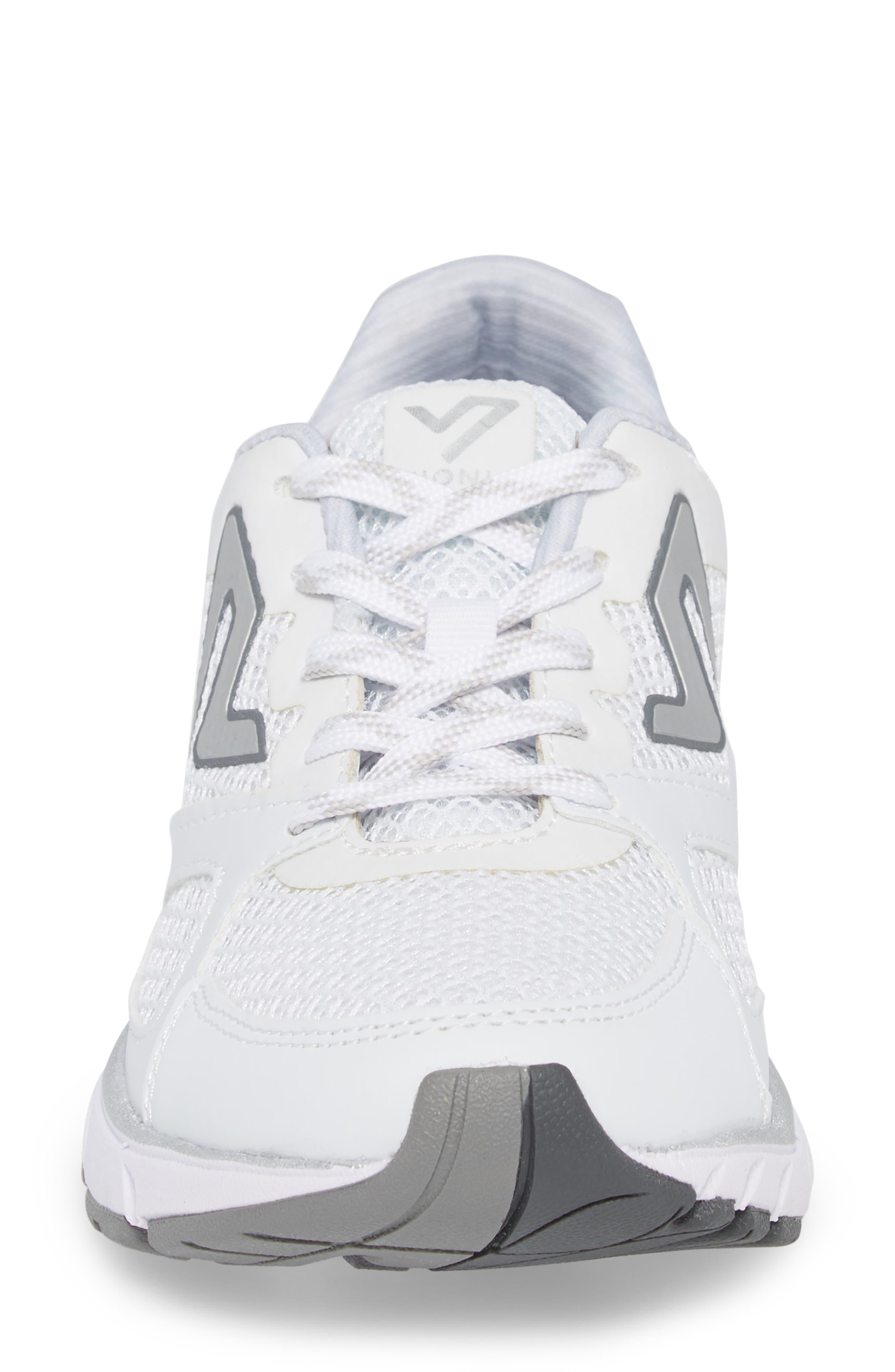 'Satima' Sneaker,                             Alternate thumbnail 4, color,                             WHITE FABRIC