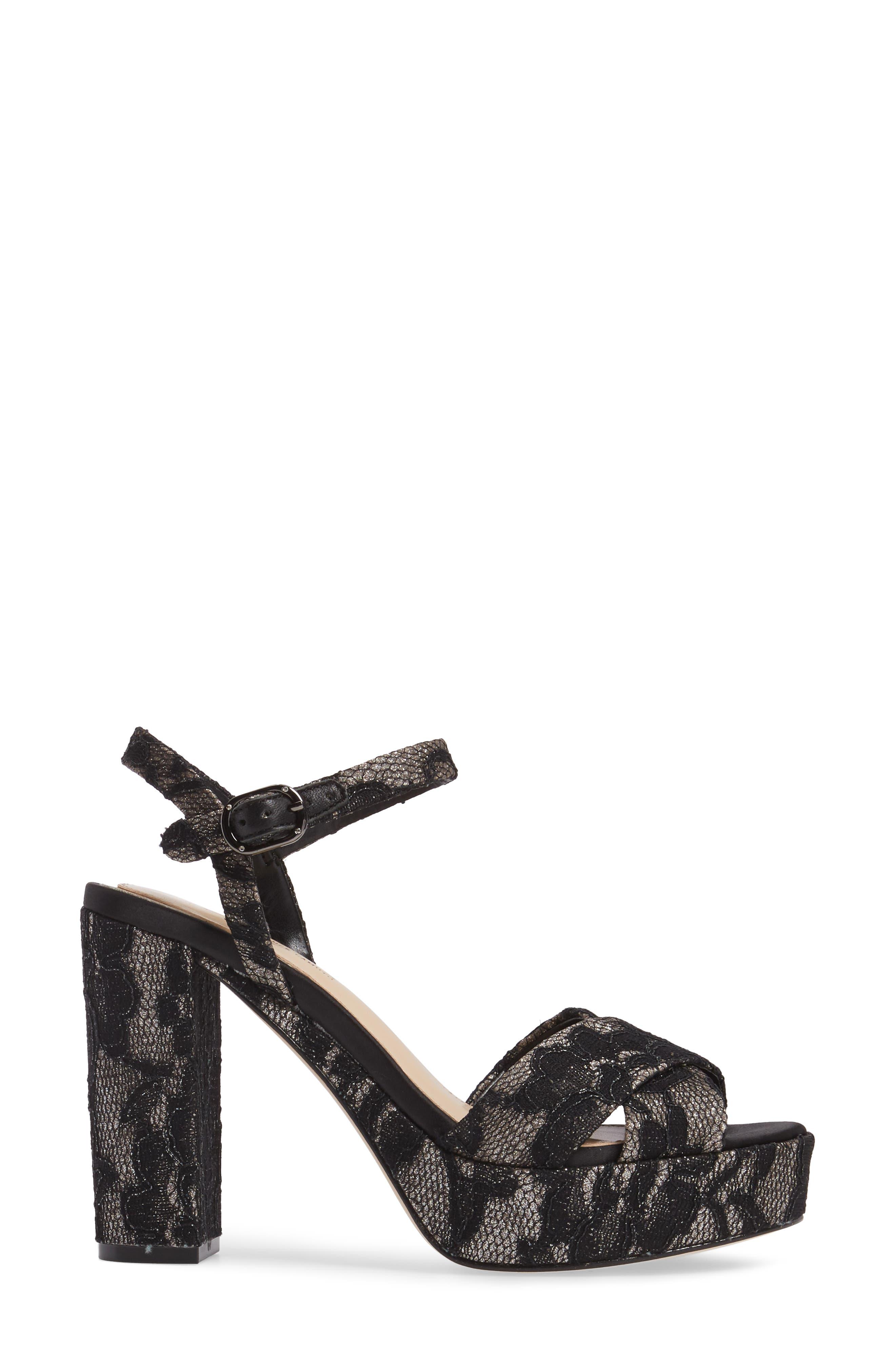 'Valora' Platform Sandal,                             Alternate thumbnail 3, color,                             002