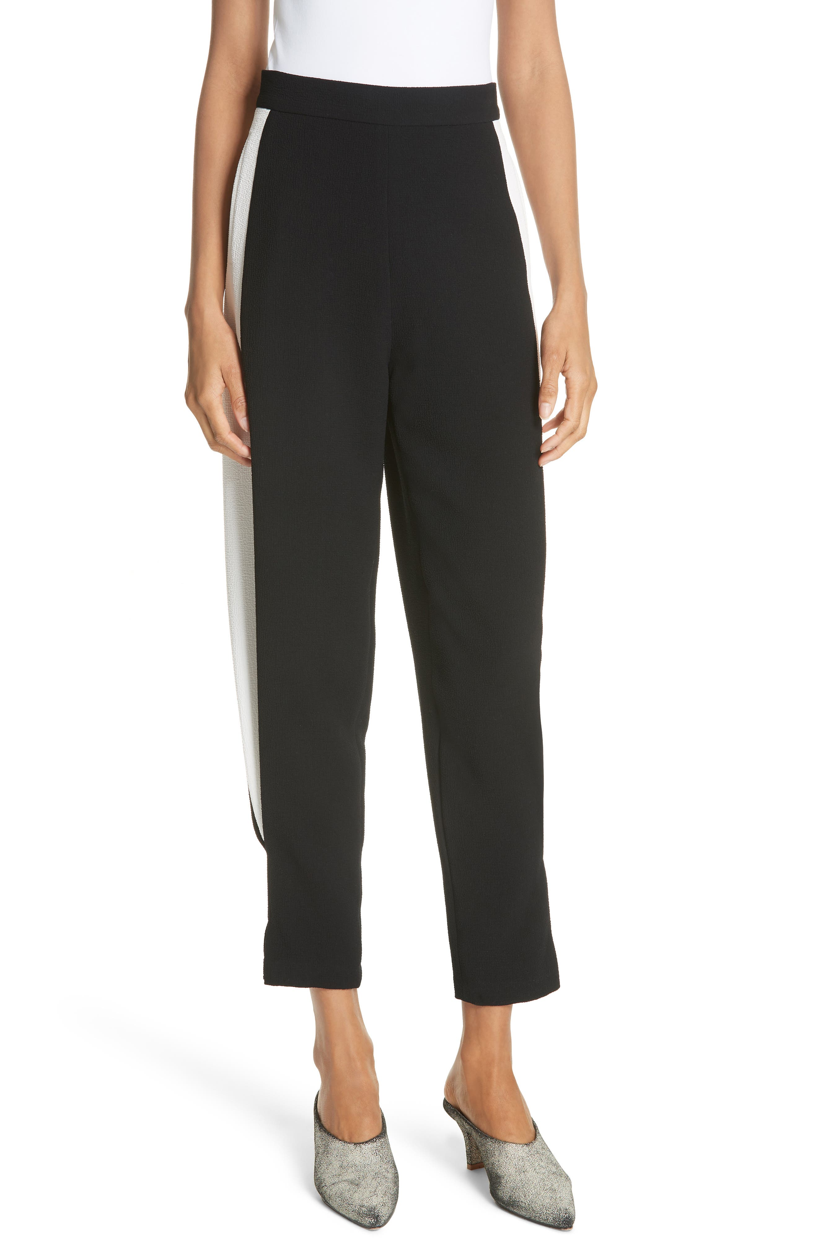 Bridges Side Stripe Tapered Pants,                         Main,                         color, 001