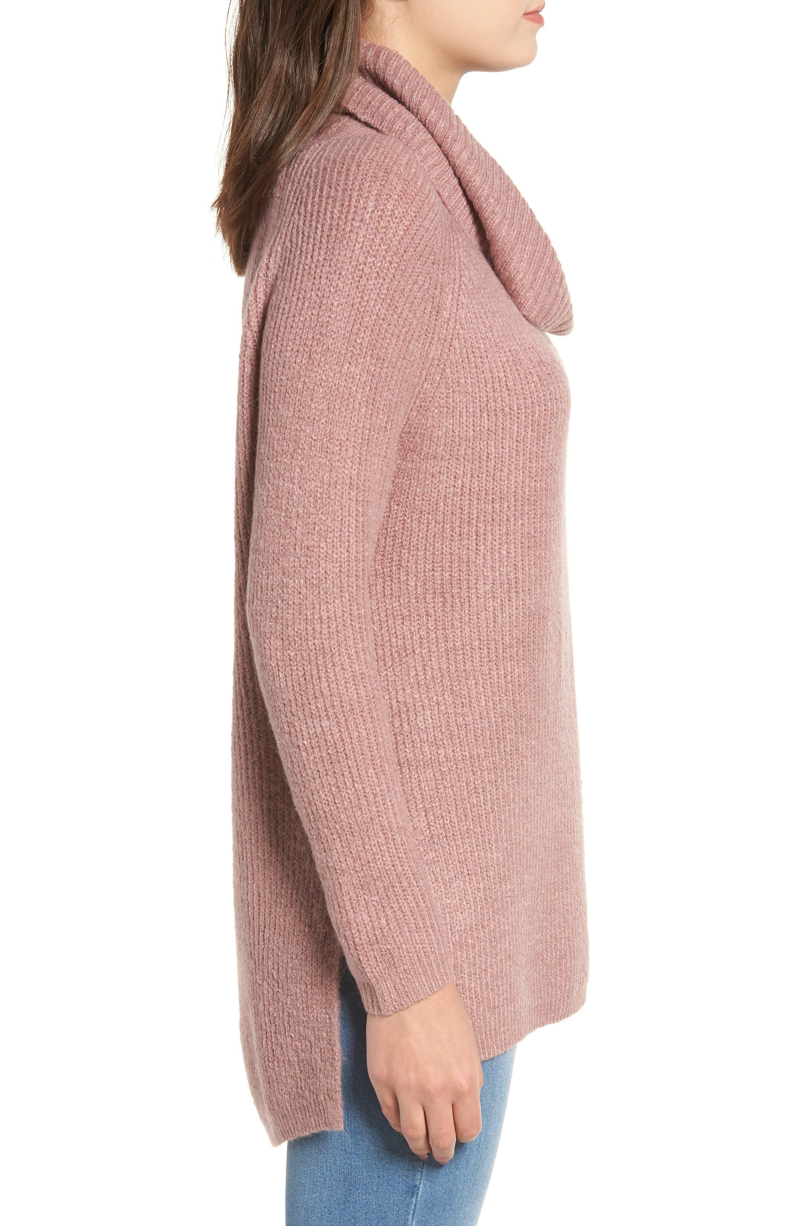 Cowl Neck Sweater,                             Alternate thumbnail 3, color,                             500