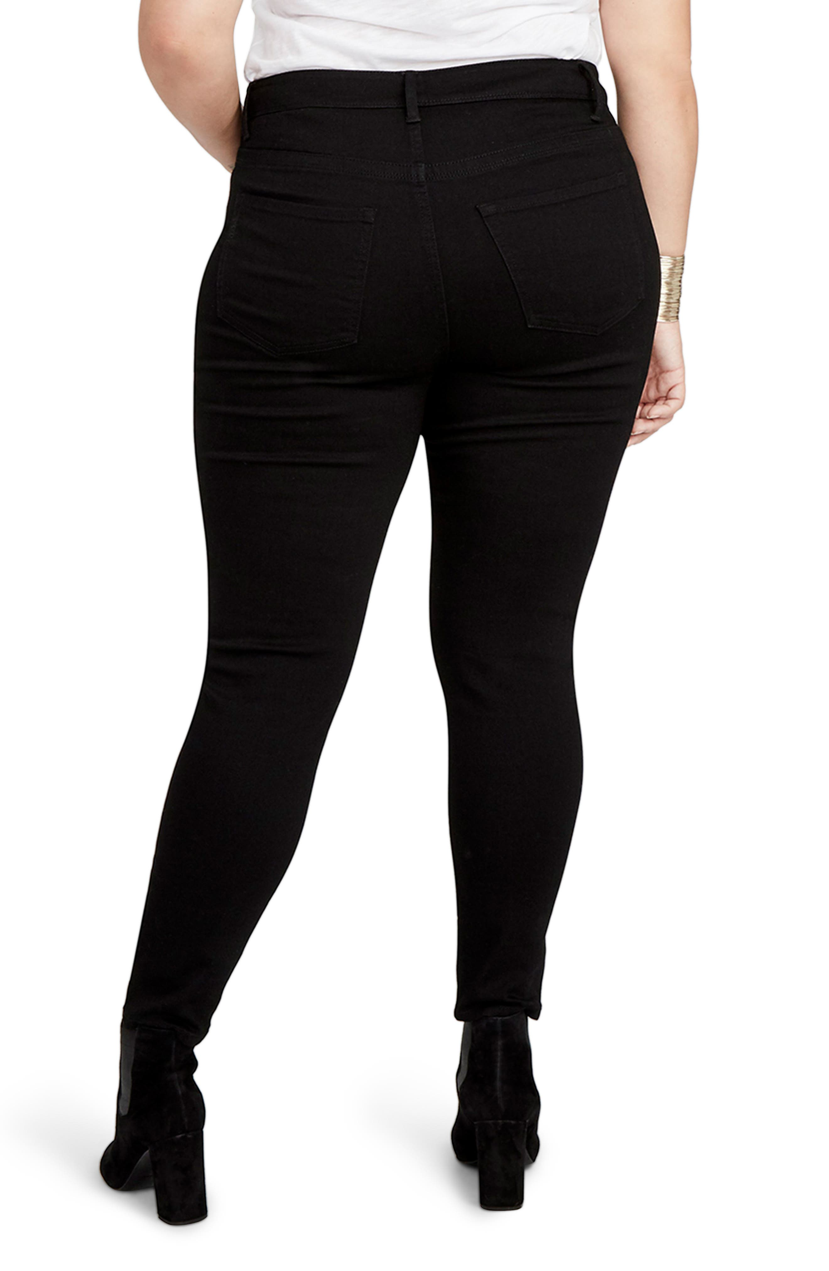 Curvy High Waist Skinny Jeans,                             Alternate thumbnail 2, color,                             015