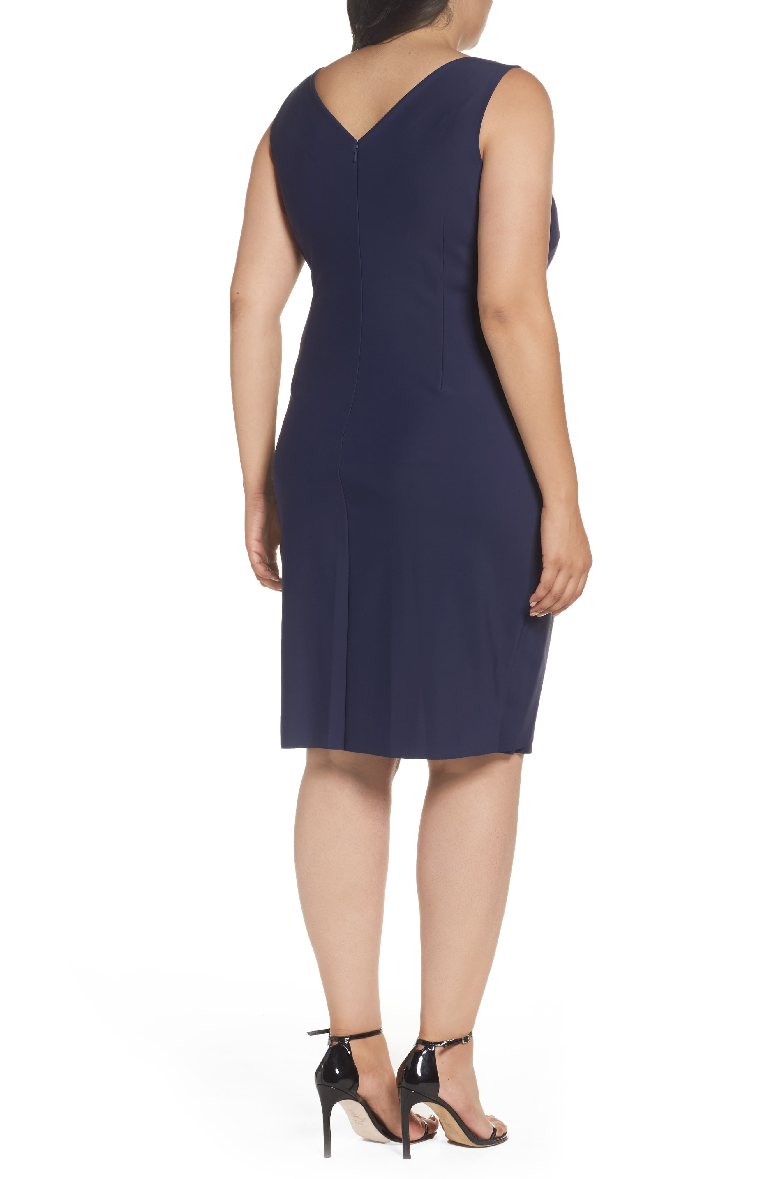 Embellished Surplice Sheath Dress,                             Alternate thumbnail 10, color,