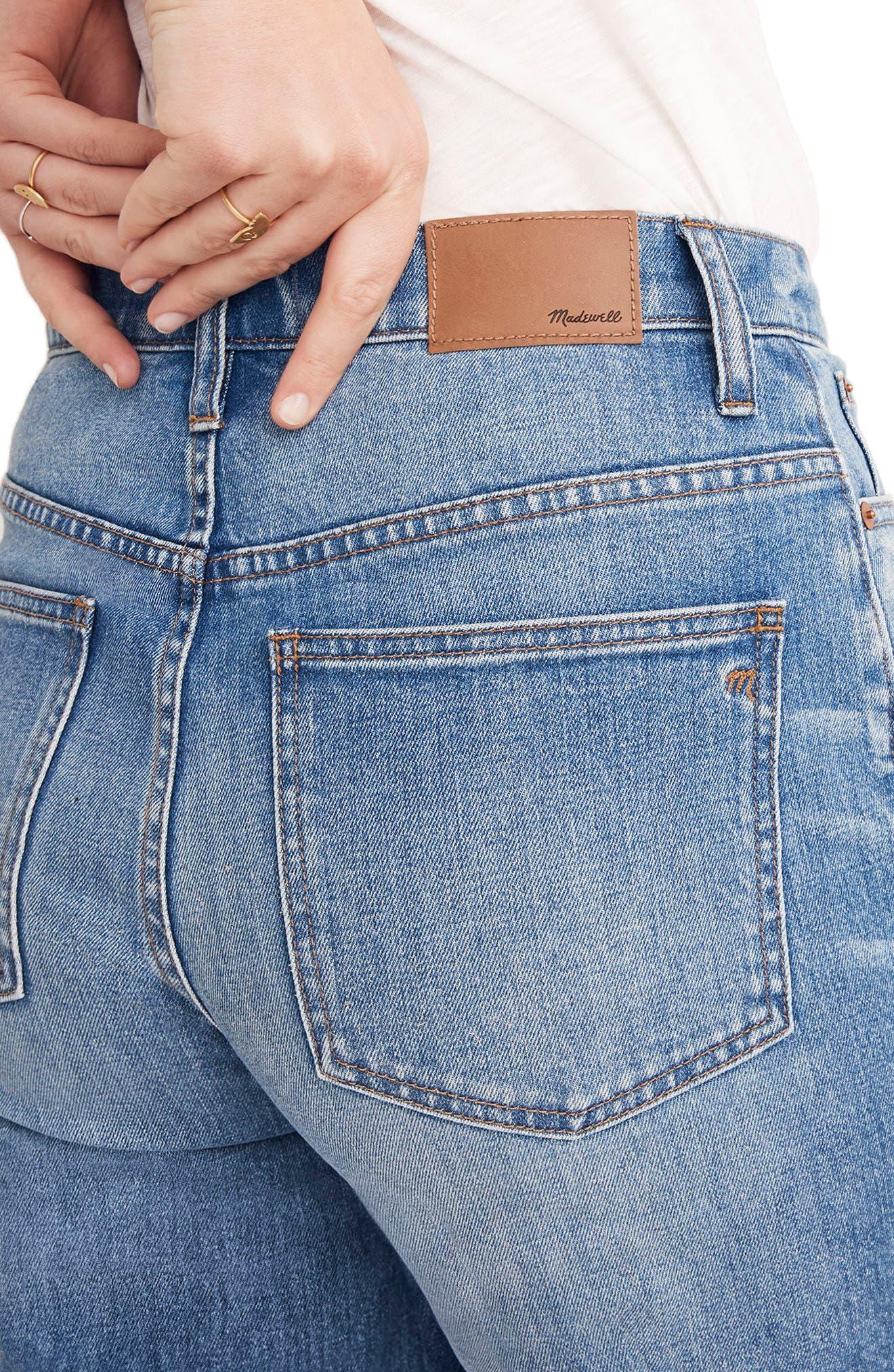 Gusset Crop Wide Leg Jeans,                             Alternate thumbnail 4, color,                             400