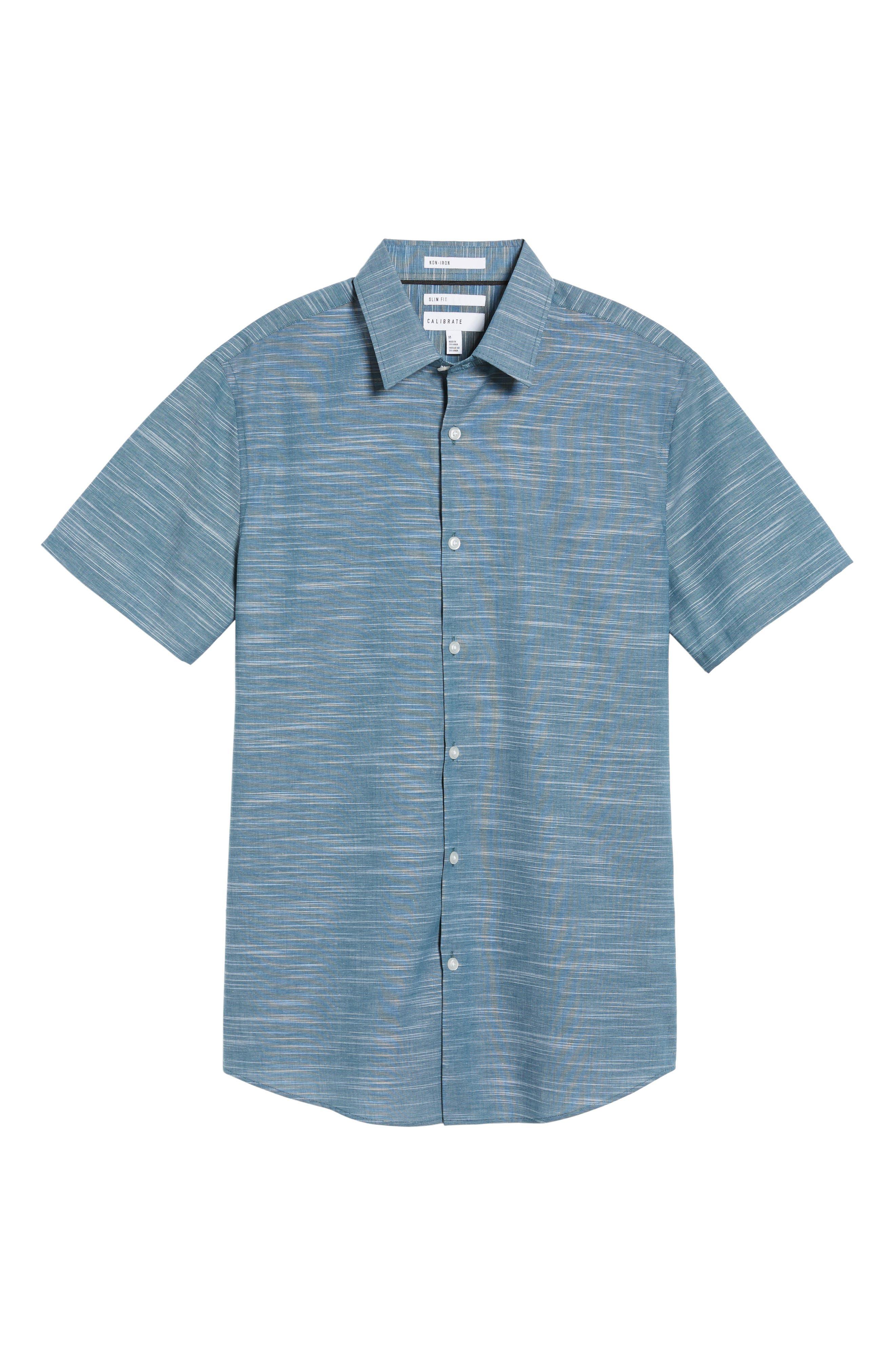 Calilbrate Slim Fit Slub Woven Shirt,                             Alternate thumbnail 16, color,