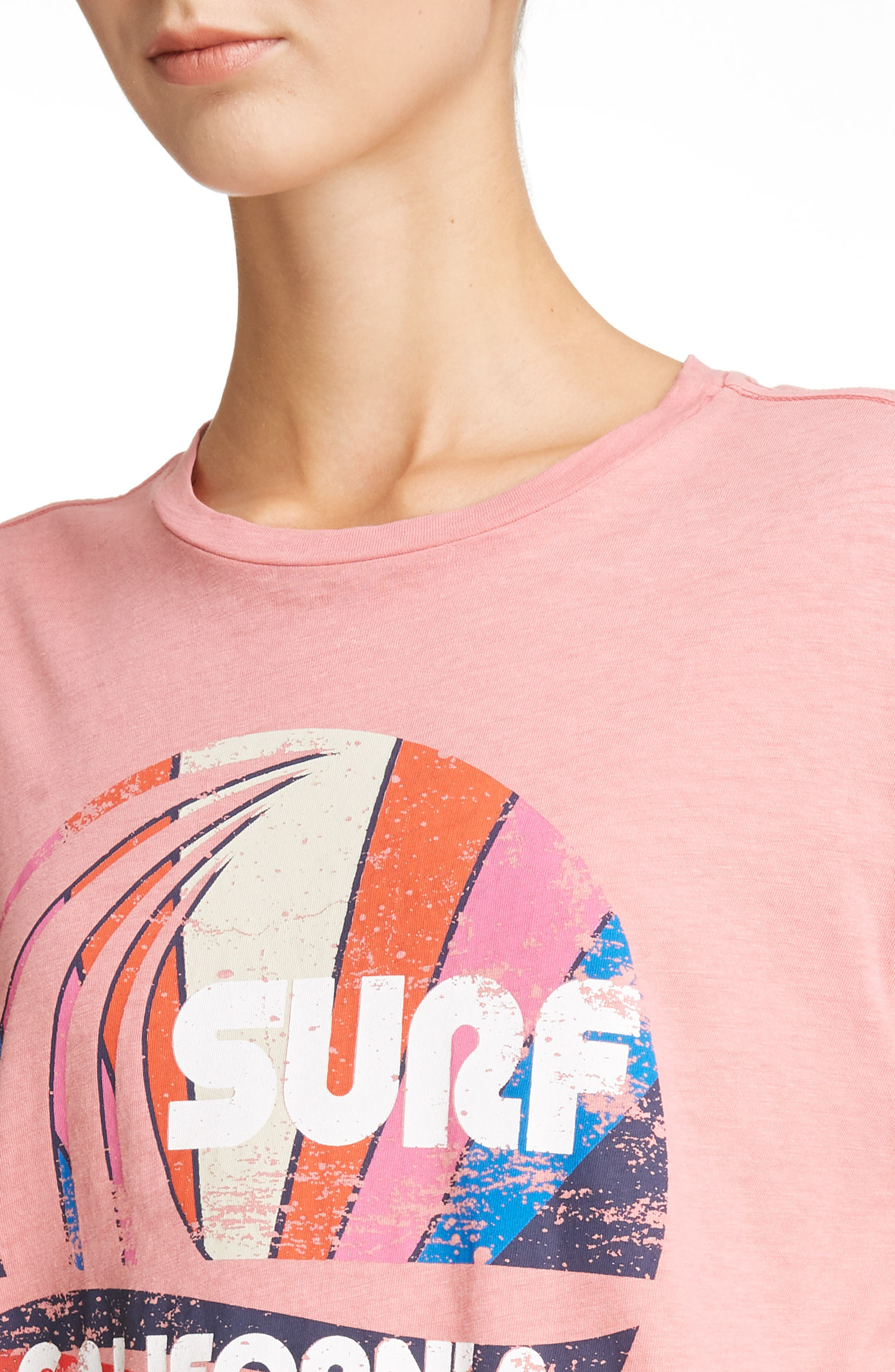 Surf California Tee,                             Alternate thumbnail 4, color,                             CANDY PINK
