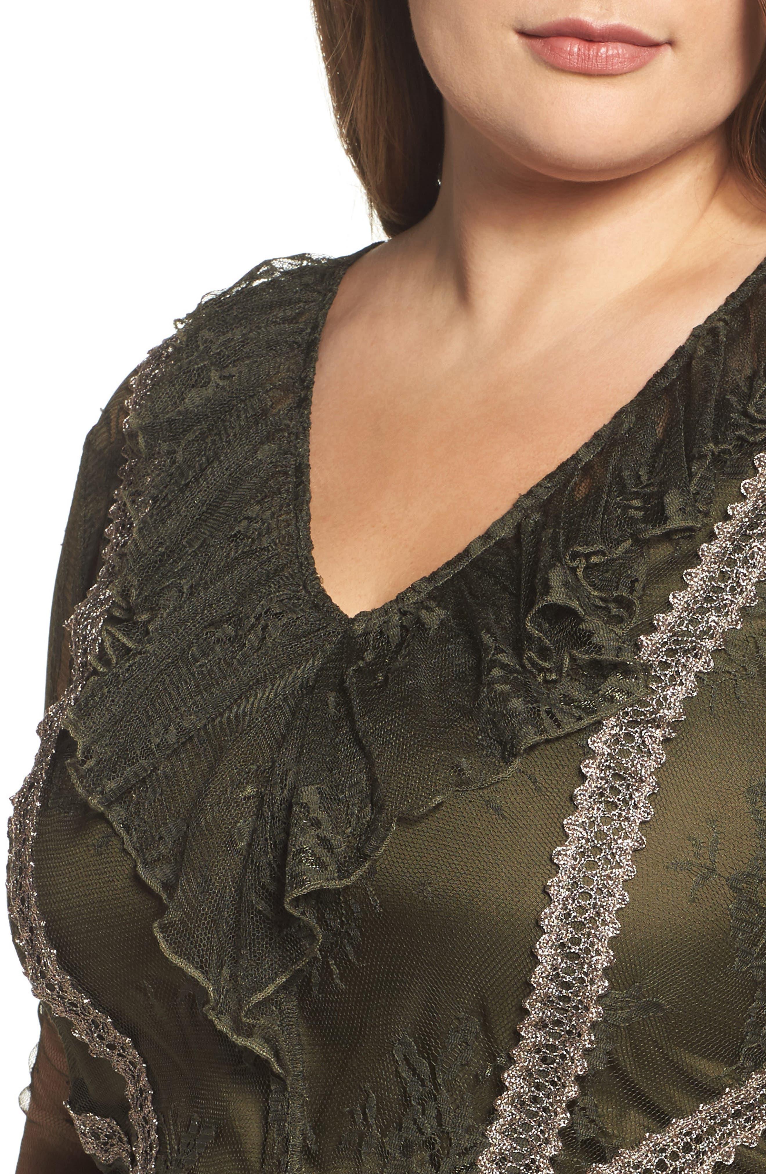 Lace Boho Maxi Dress,                             Alternate thumbnail 4, color,