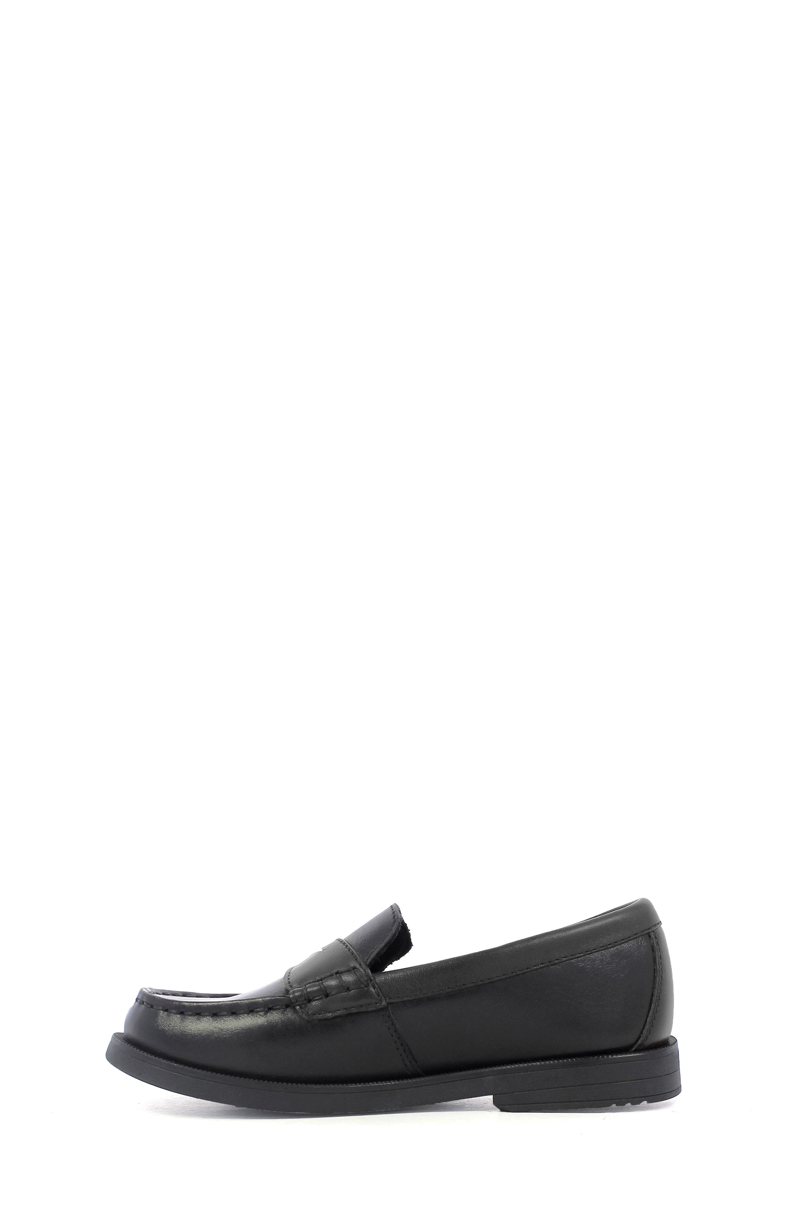 'Croquet' Penny Loafer,                             Alternate thumbnail 7, color,                             BLACK