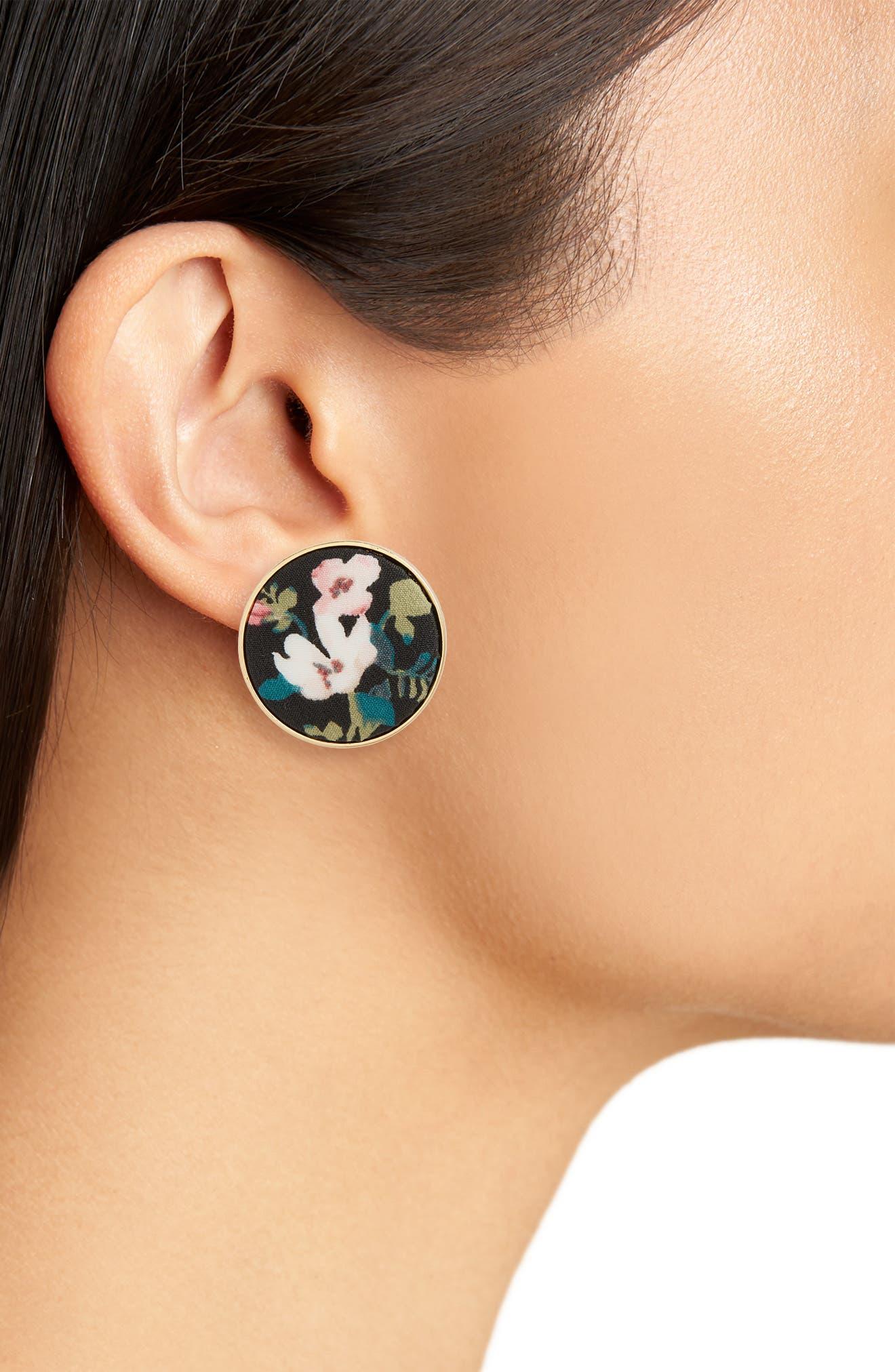 kate spade set sail button stud earrings,                             Alternate thumbnail 2, color,                             001