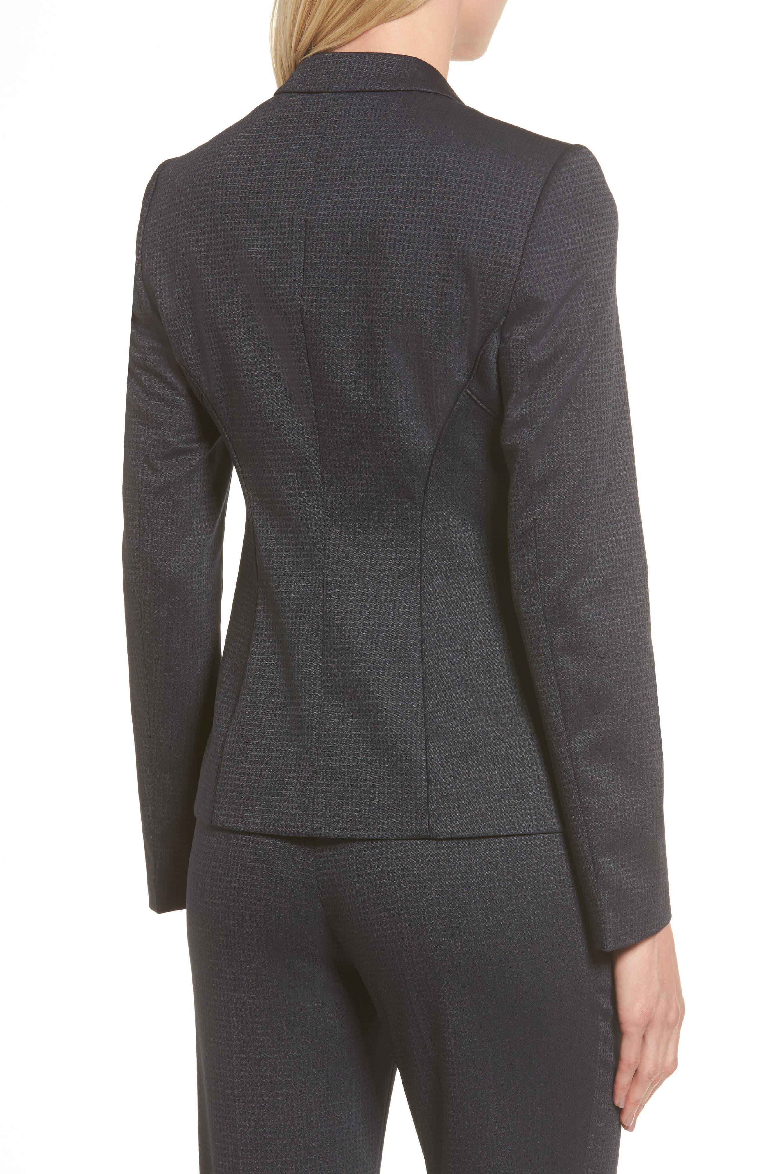 Jukani Check Wool Blend Suit Jacket,                             Alternate thumbnail 4, color,
