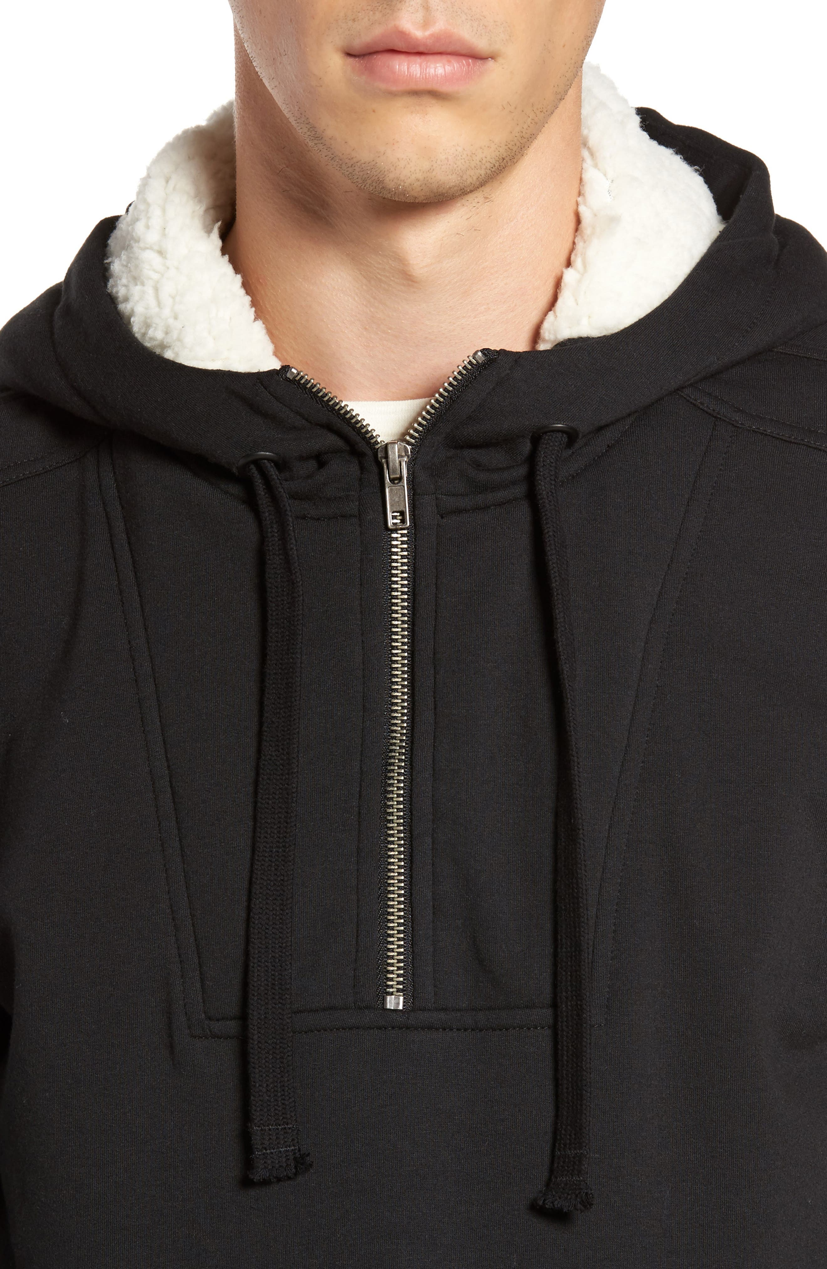 Fleece Lined Hoodie,                             Alternate thumbnail 4, color,                             001