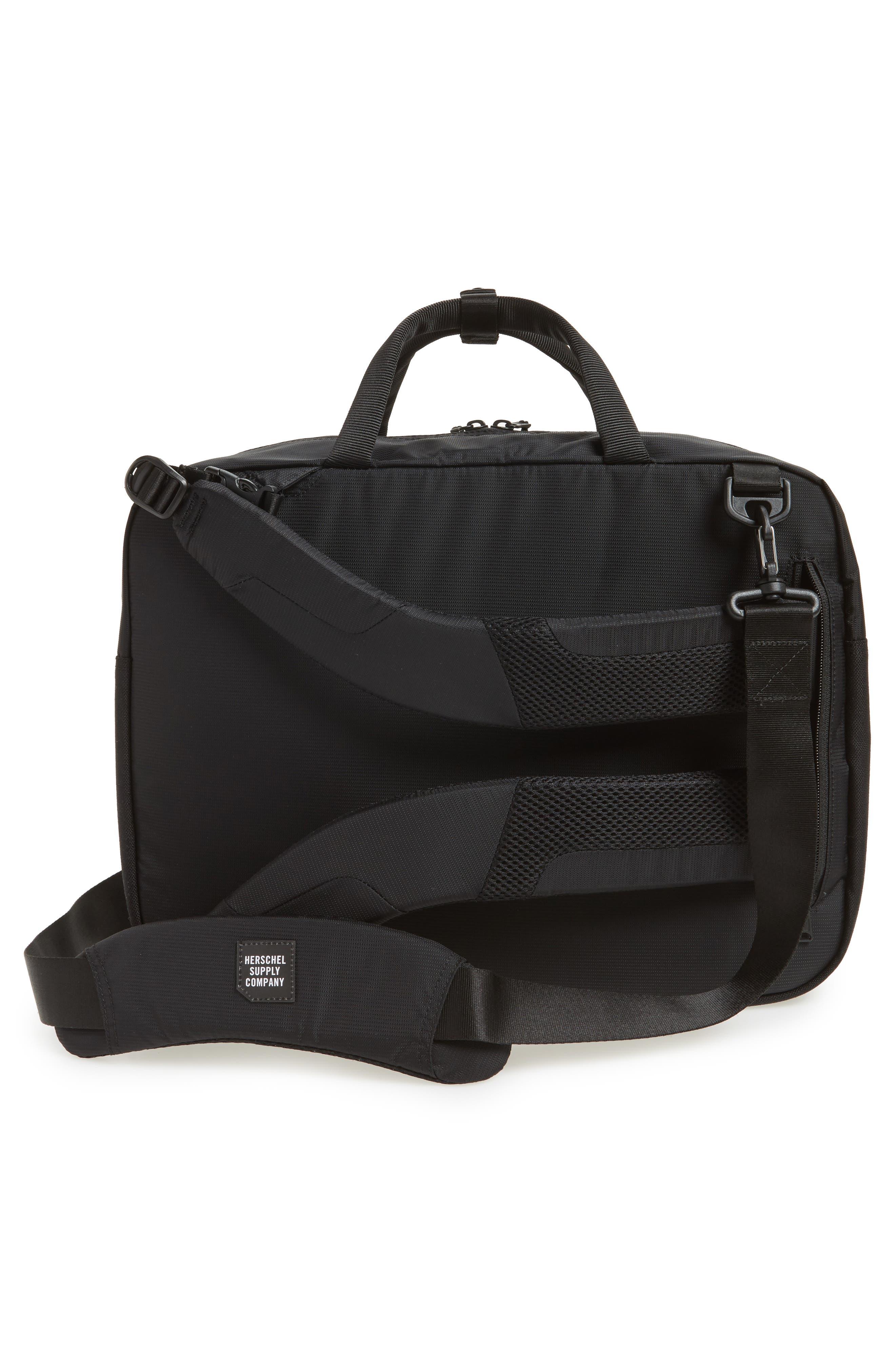 Britannia Convertible Messenger Bag,                             Alternate thumbnail 3, color,                             BLACK