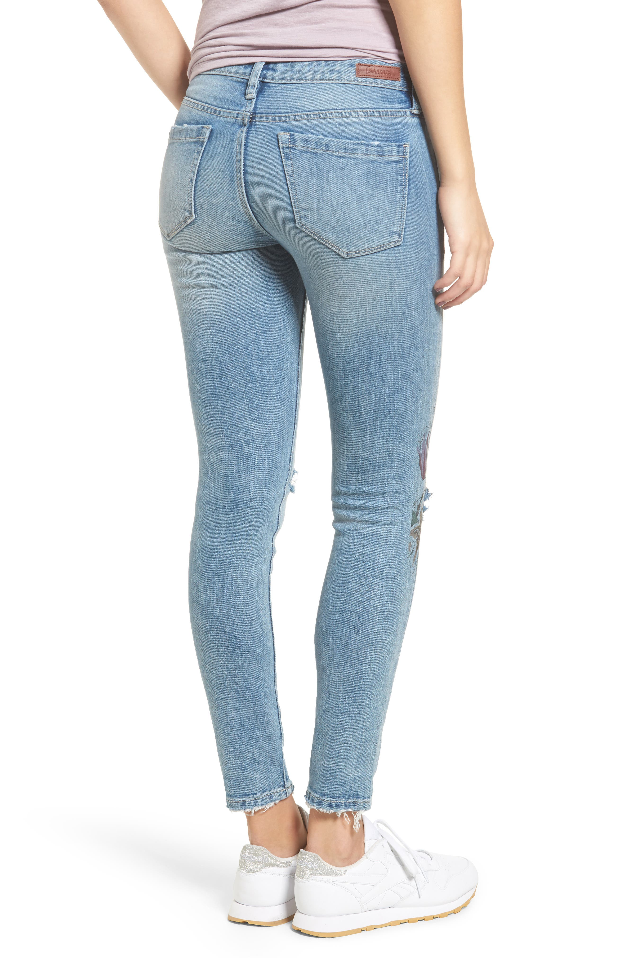 Print Ripped Skinny Jeans,                             Alternate thumbnail 2, color,                             400