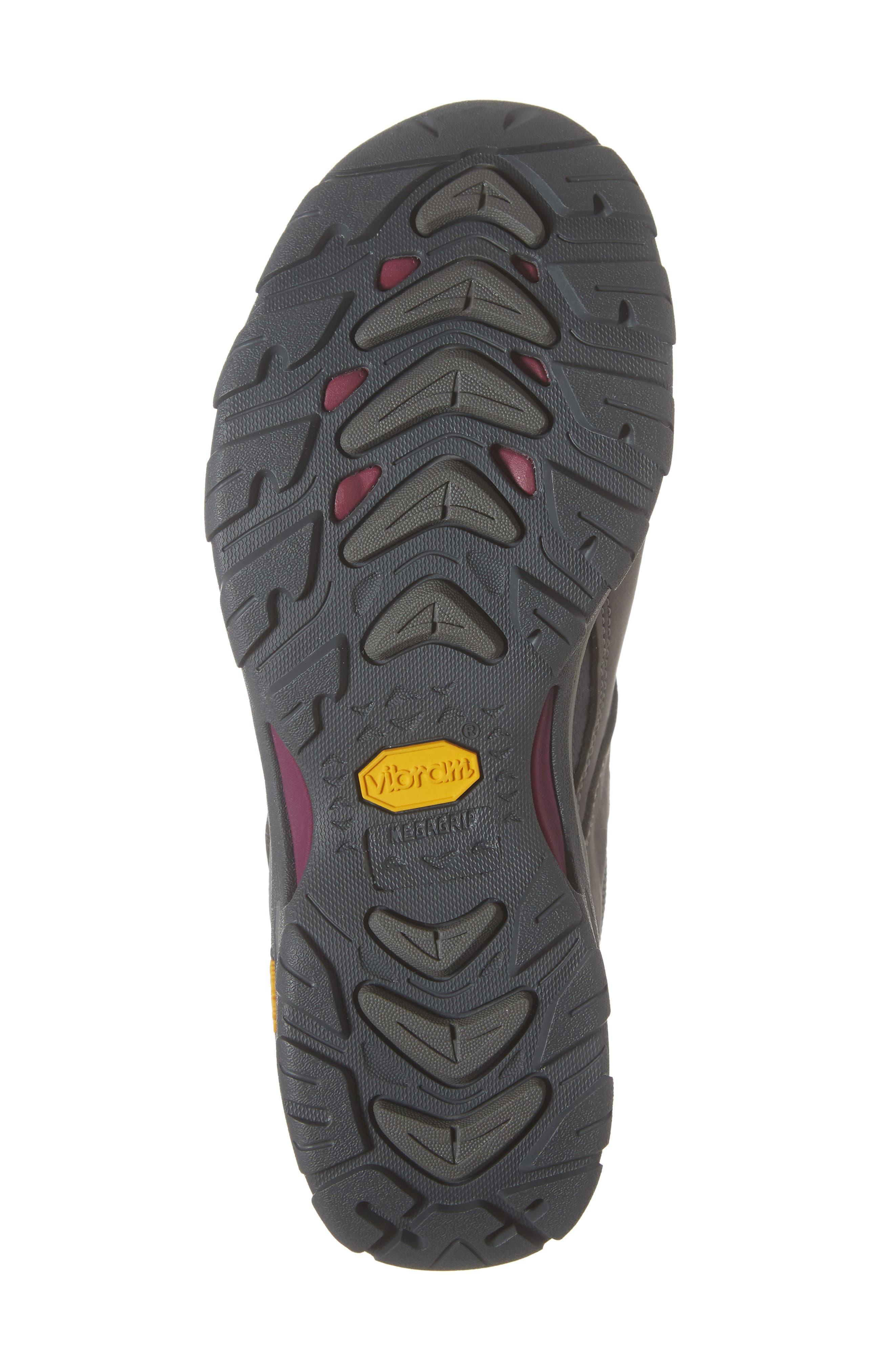 TEVA,                             Ahnu by Teva Montara III Waterproof Hiking Sneaker,                             Alternate thumbnail 6, color,                             CHARCOAL GRAY NUBUCK LEATHER