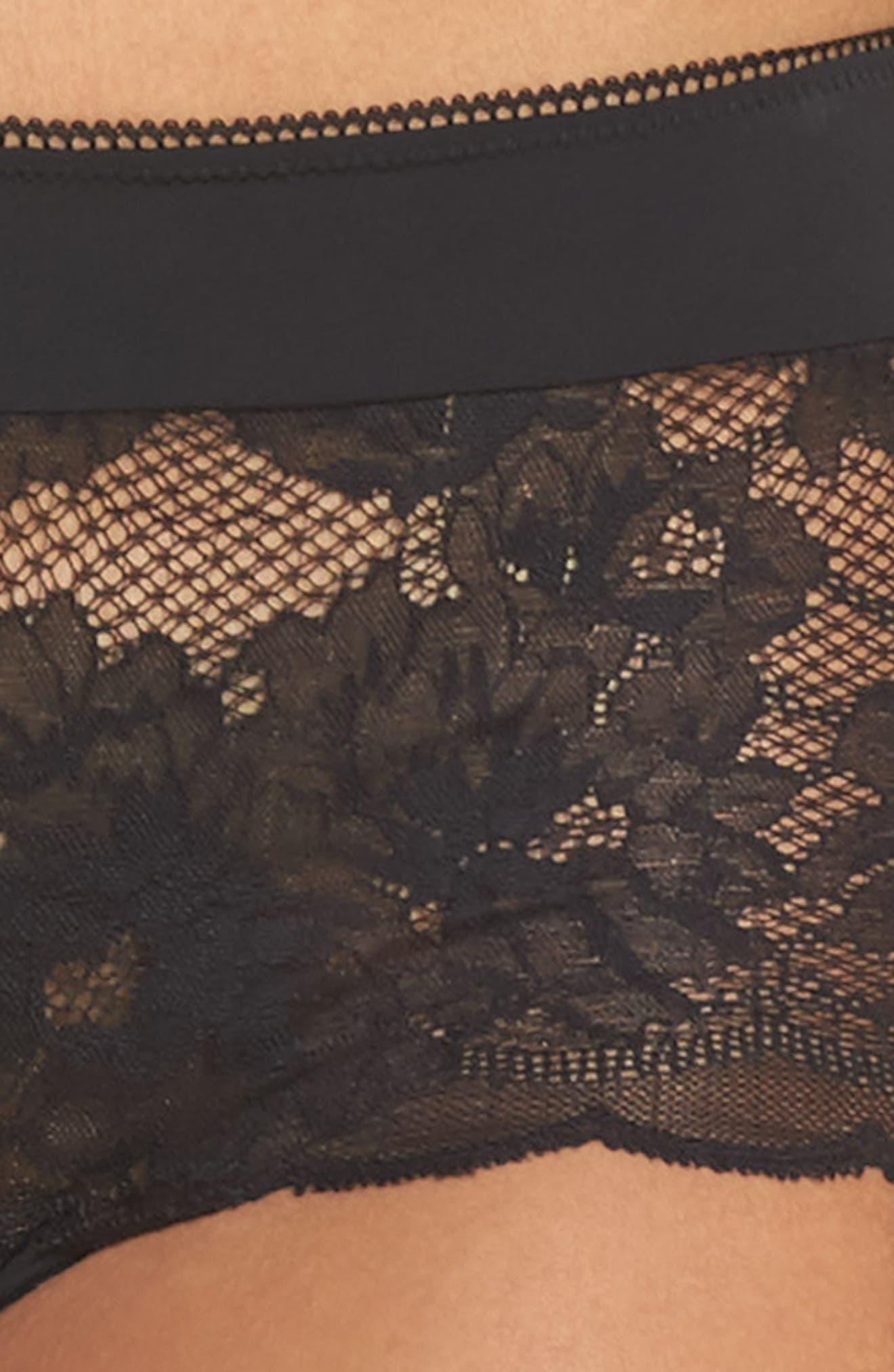 Lace Boyshorts,                             Alternate thumbnail 4, color,                             001