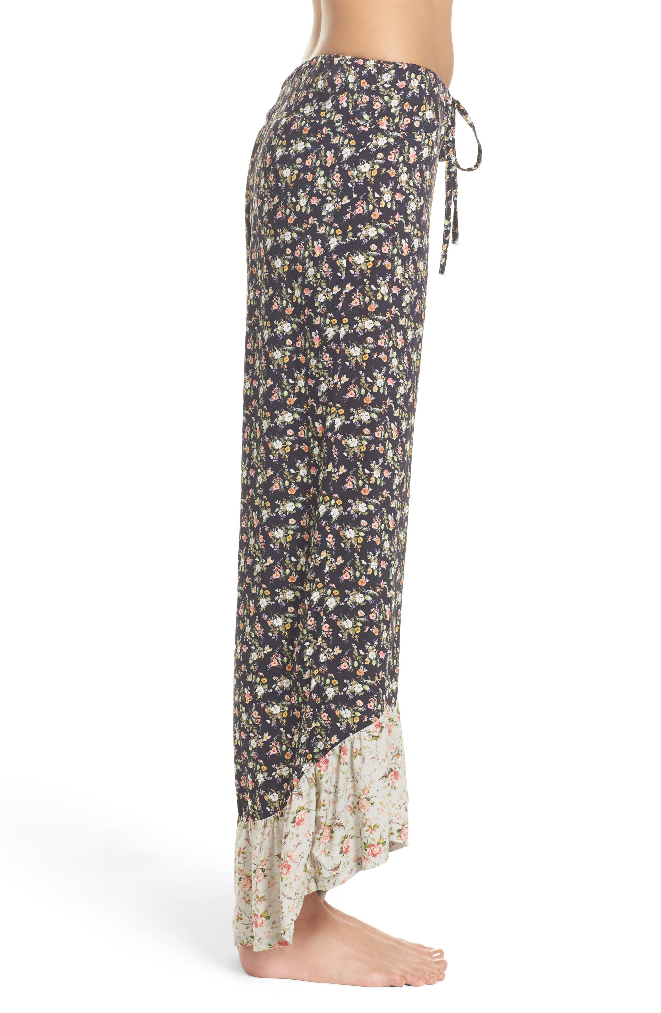Floral Pajama Pants,                             Alternate thumbnail 3, color,                             400