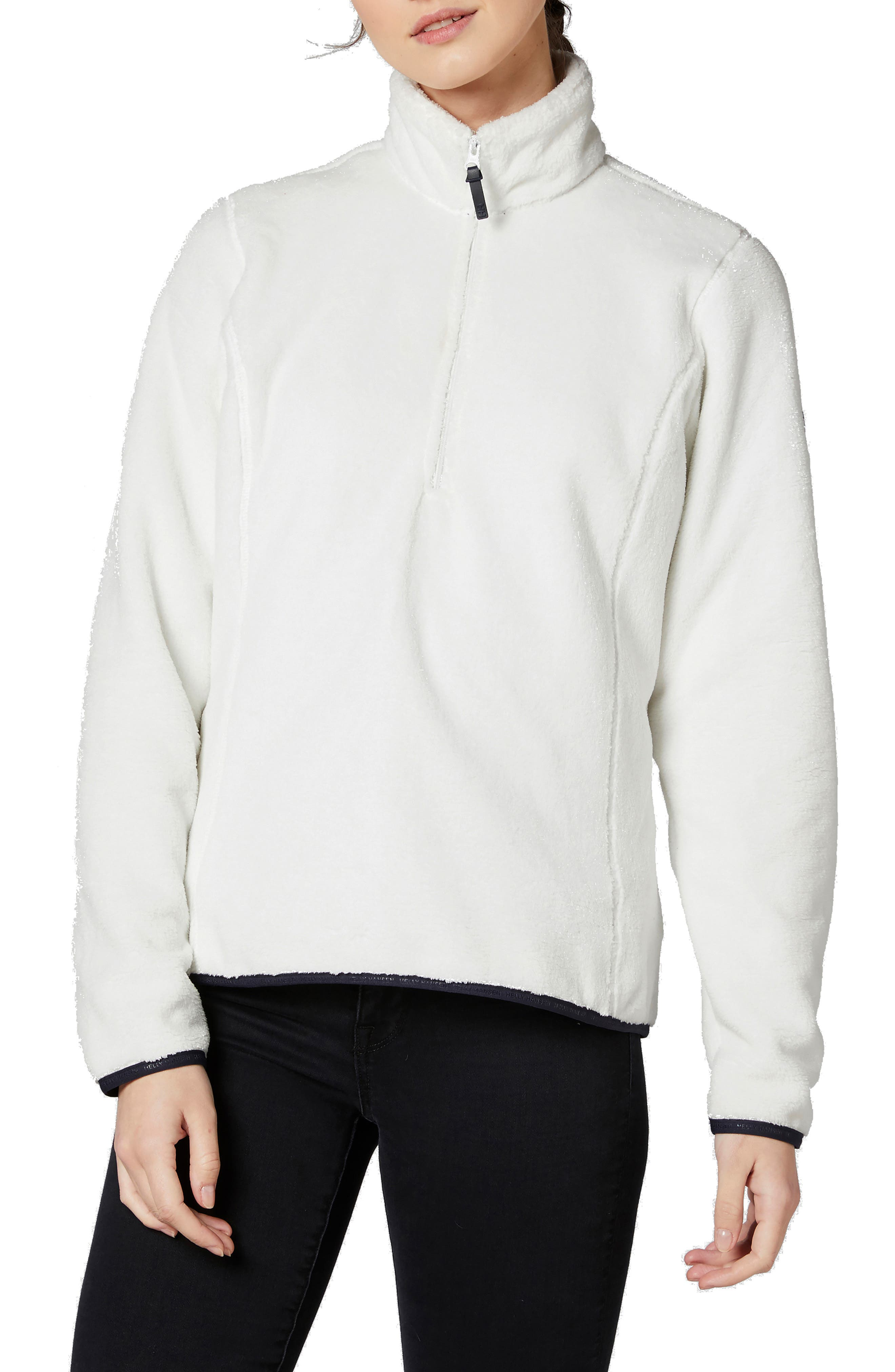 HELLY HANSEN Feather Quarter Zip Fleece in Off White