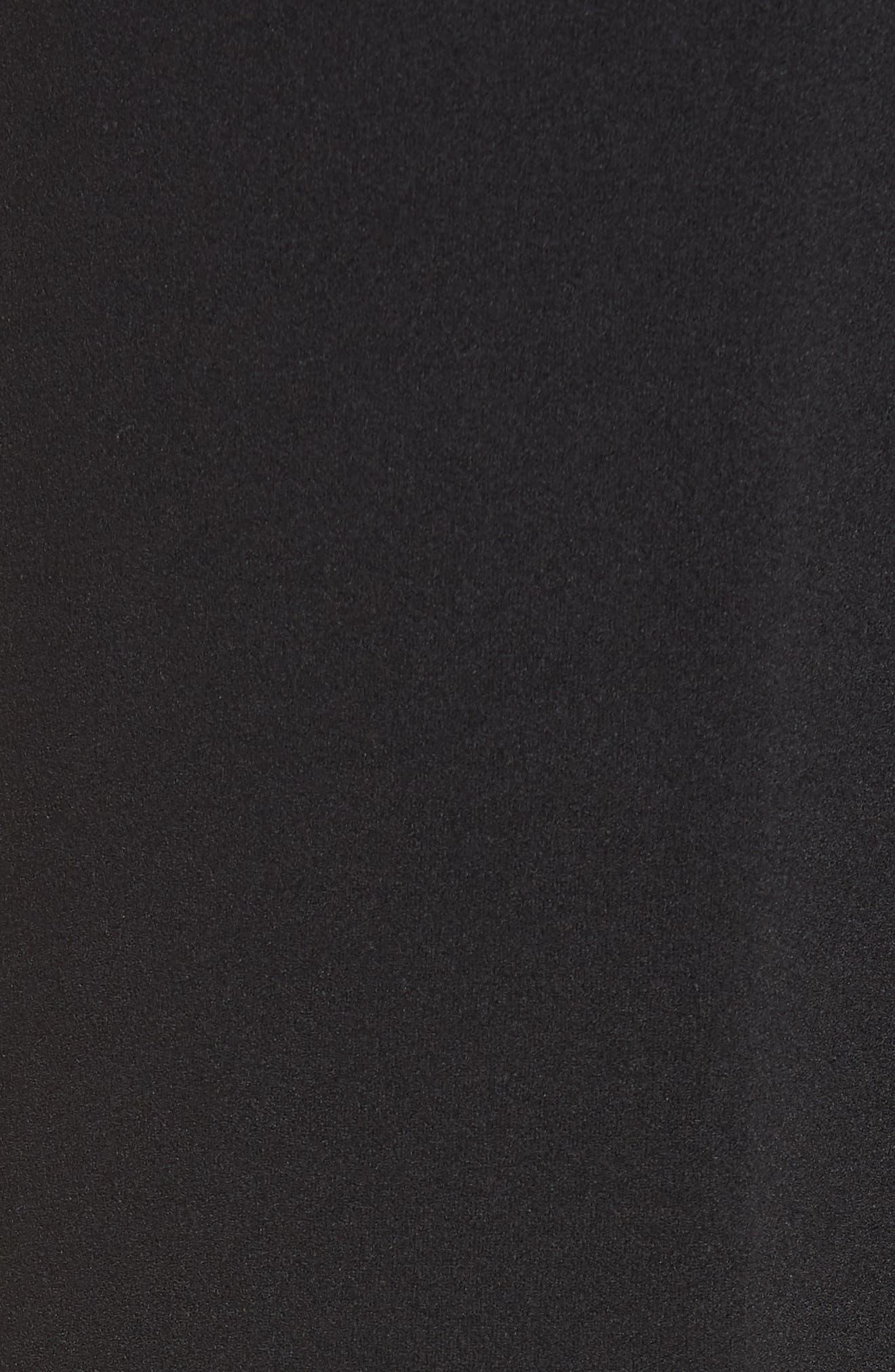 High Waist Belted Pants,                             Alternate thumbnail 6, color,                             BLACK