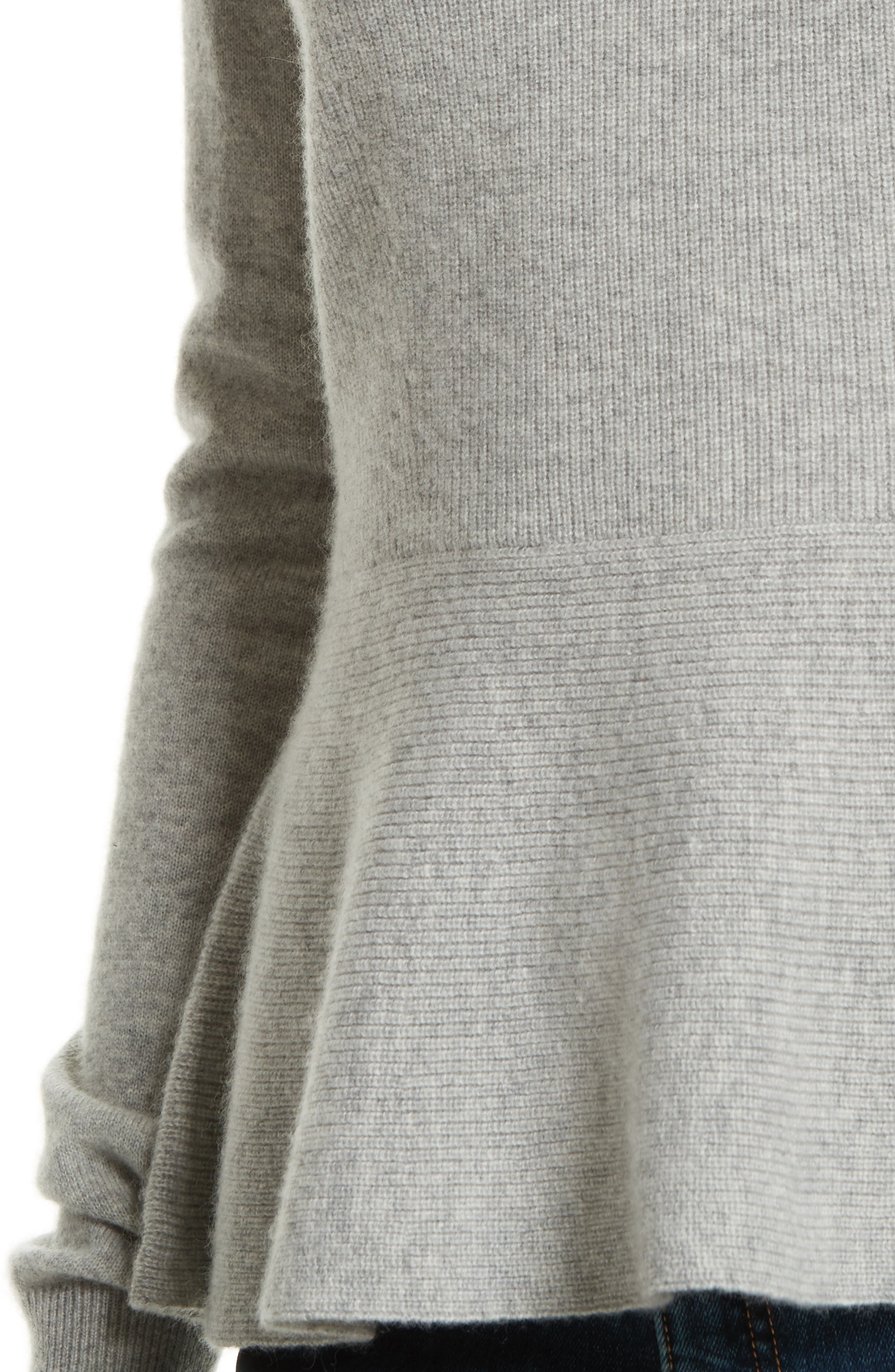 Raleigh Cashmere Peplum Sweater,                             Alternate thumbnail 11, color,