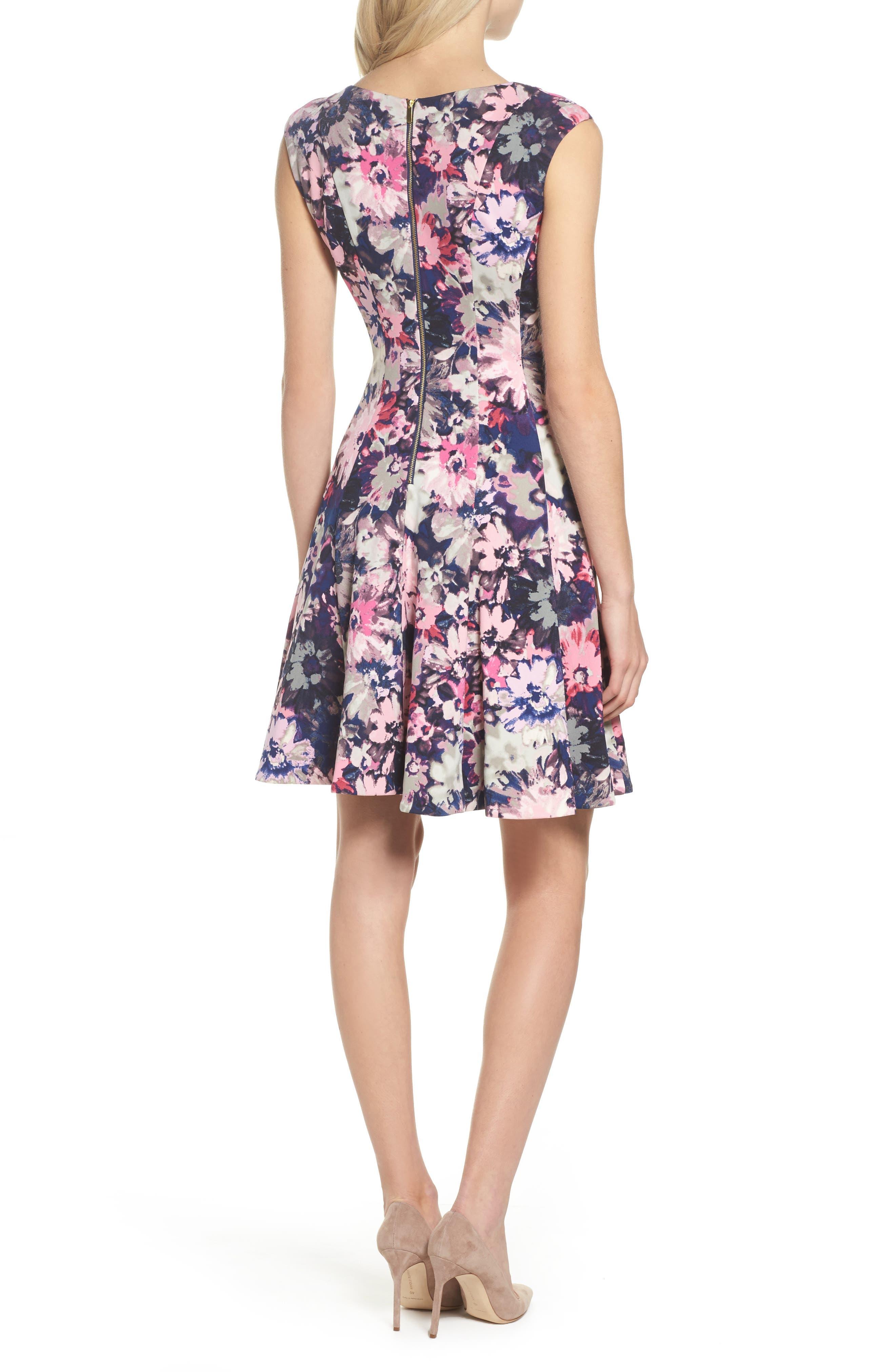 Fit & Flare Dress,                             Alternate thumbnail 2, color,                             410