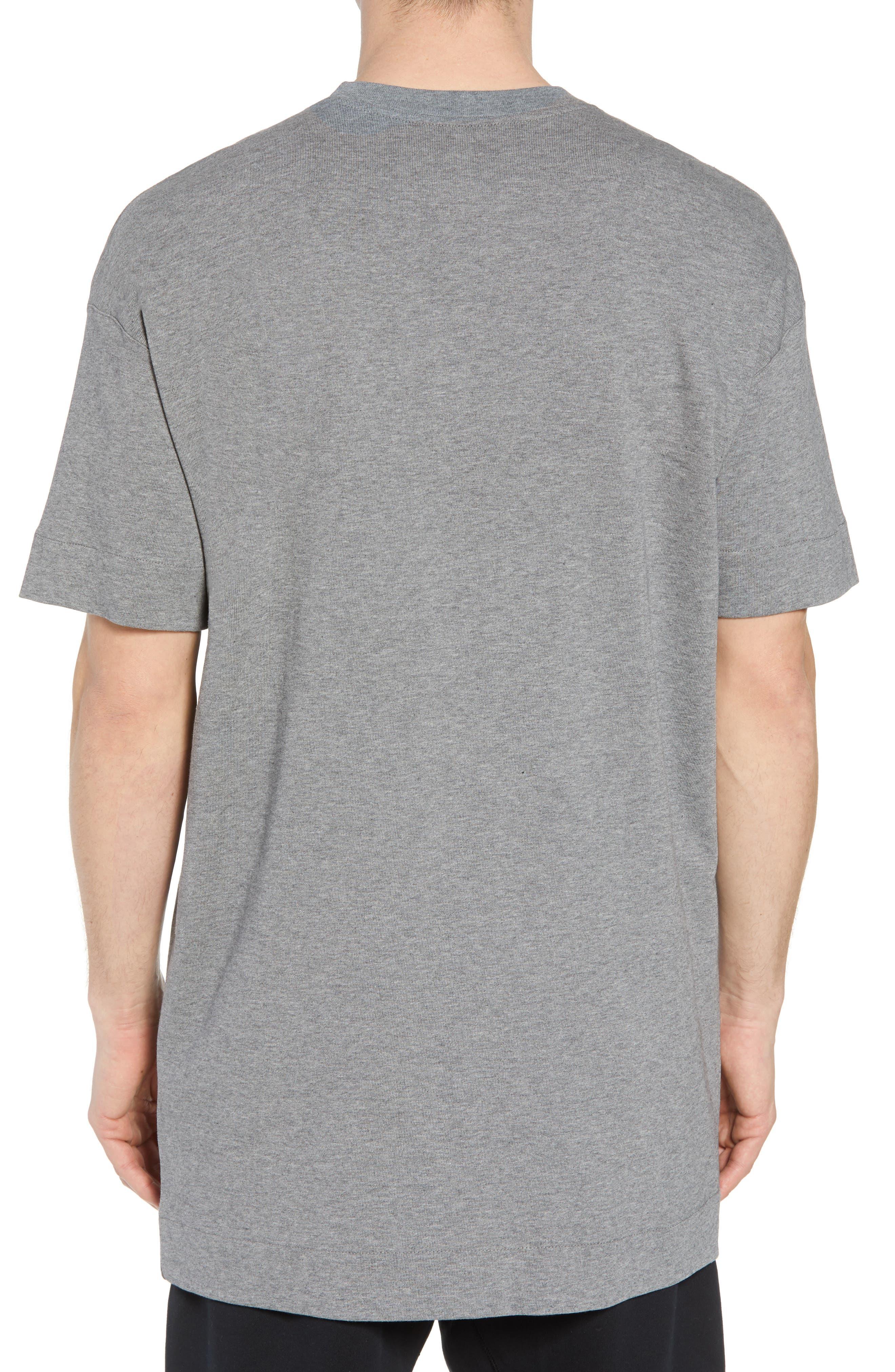 Sportswear NSW Appliqué T-Shirt,                             Alternate thumbnail 2, color,                             CARBON HEATHER