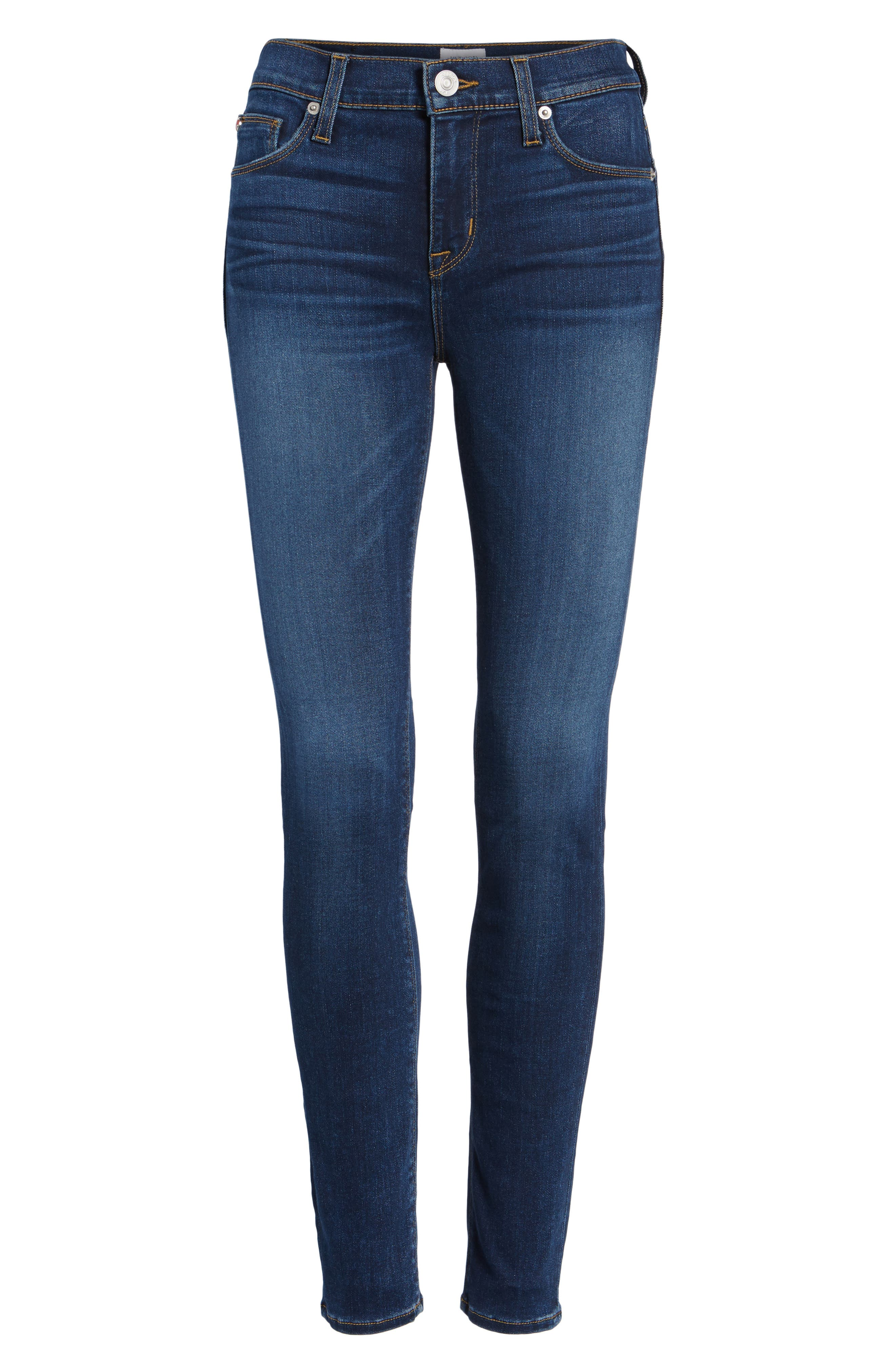 Nico Skinny Jeans,                             Alternate thumbnail 7, color,                             BLUE GOLD