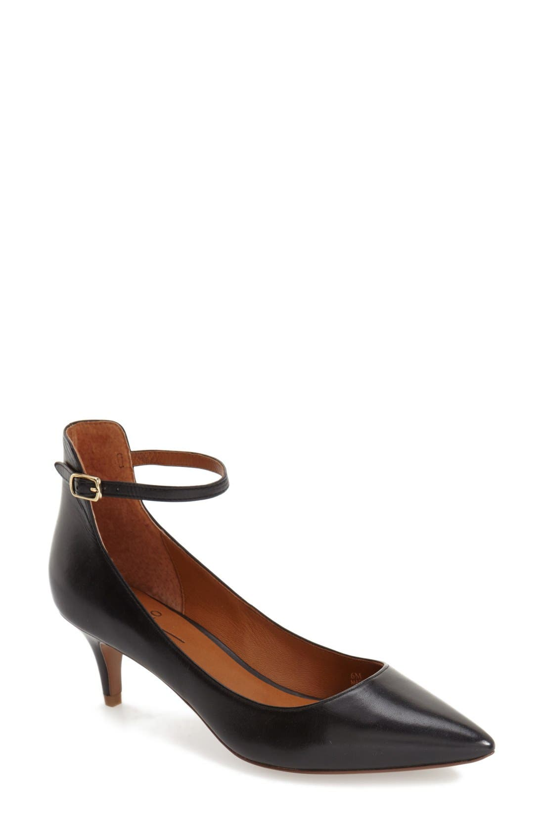 'Cutie' Ankle Strap Pointy Toe Pump,                             Main thumbnail 1, color,