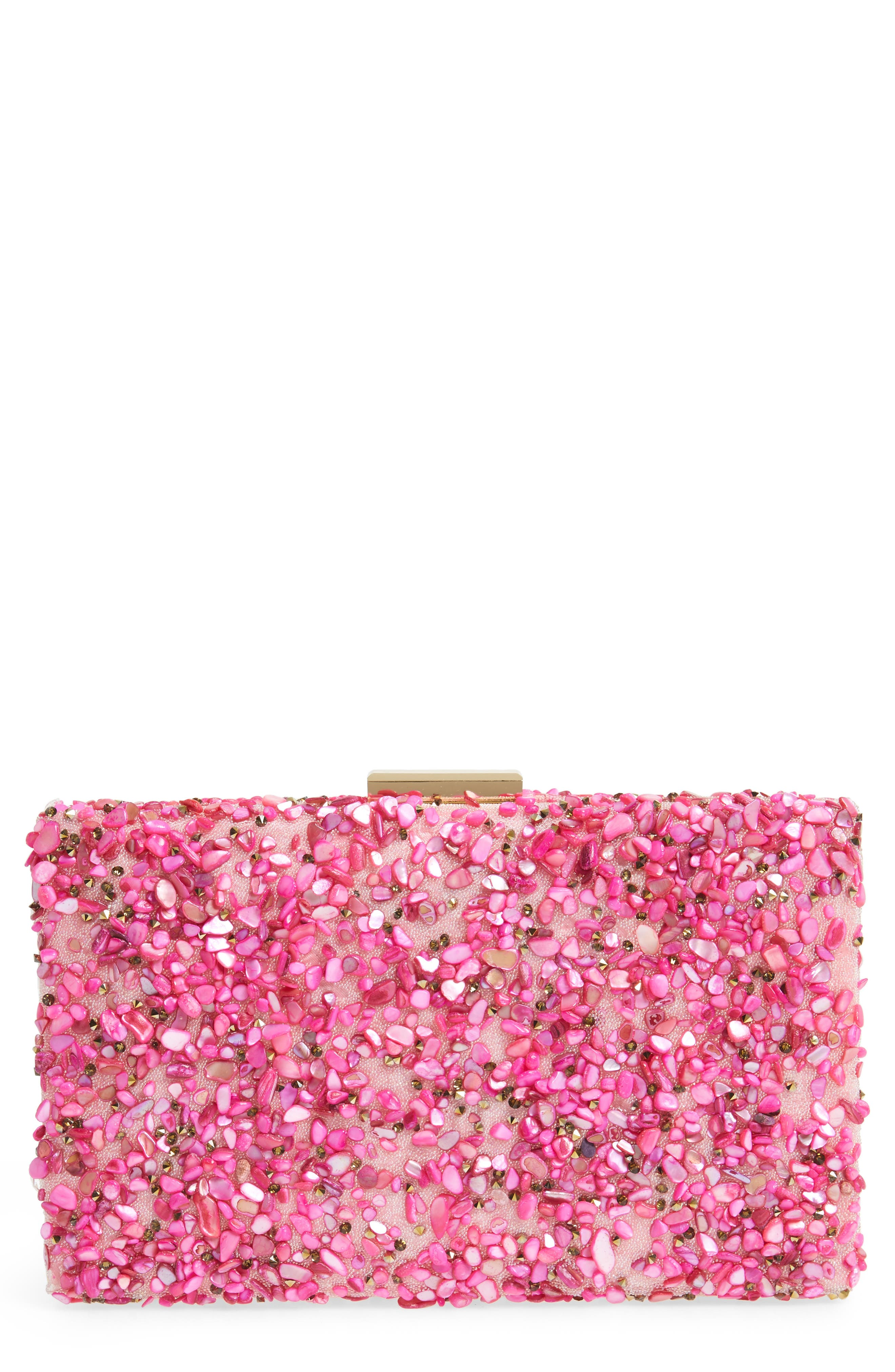 Chips Embellished Box Clutch,                             Main thumbnail 3, color,