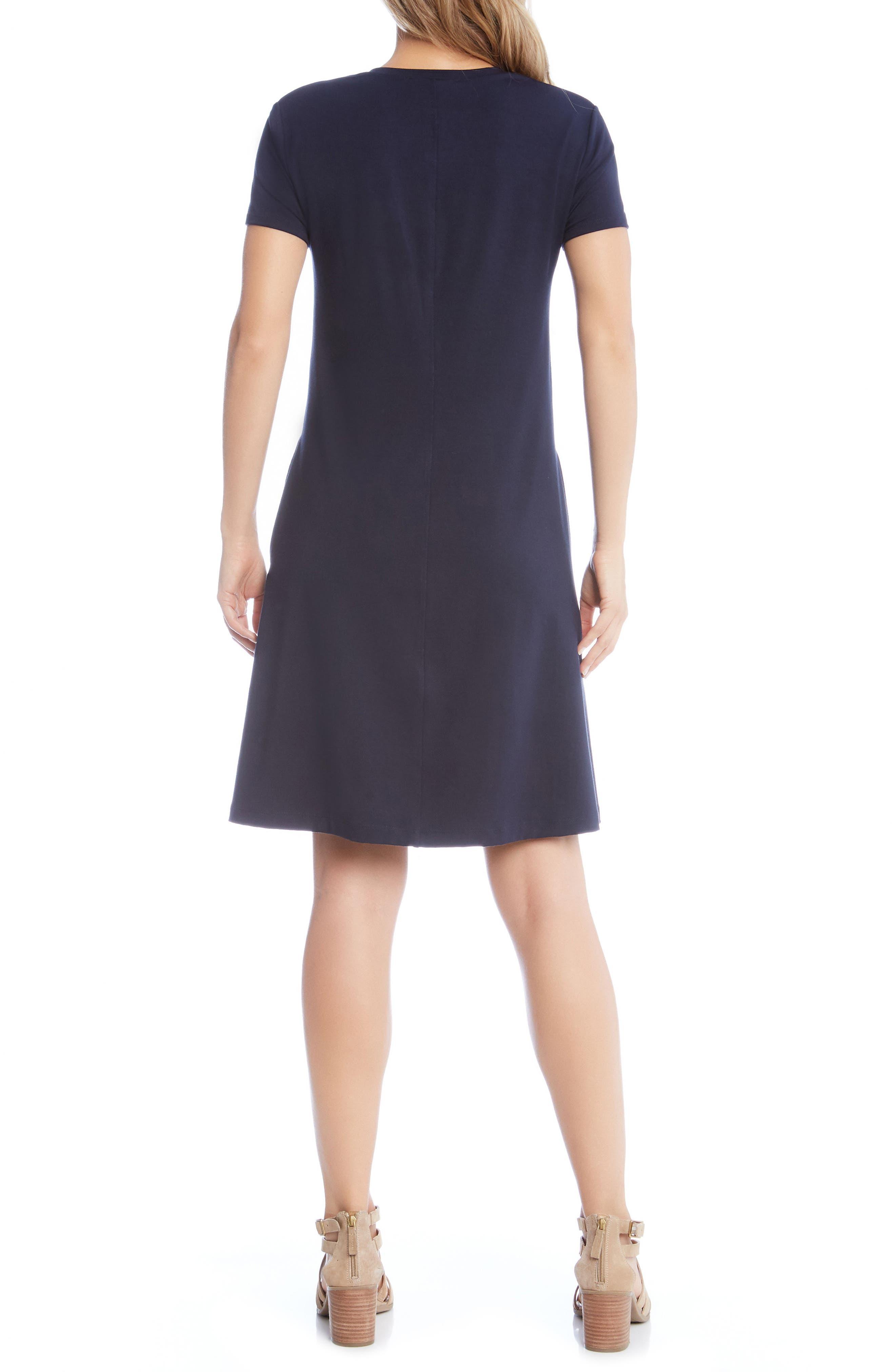 Quinn Pocket Shift Dress,                             Alternate thumbnail 2, color,                             NAVY