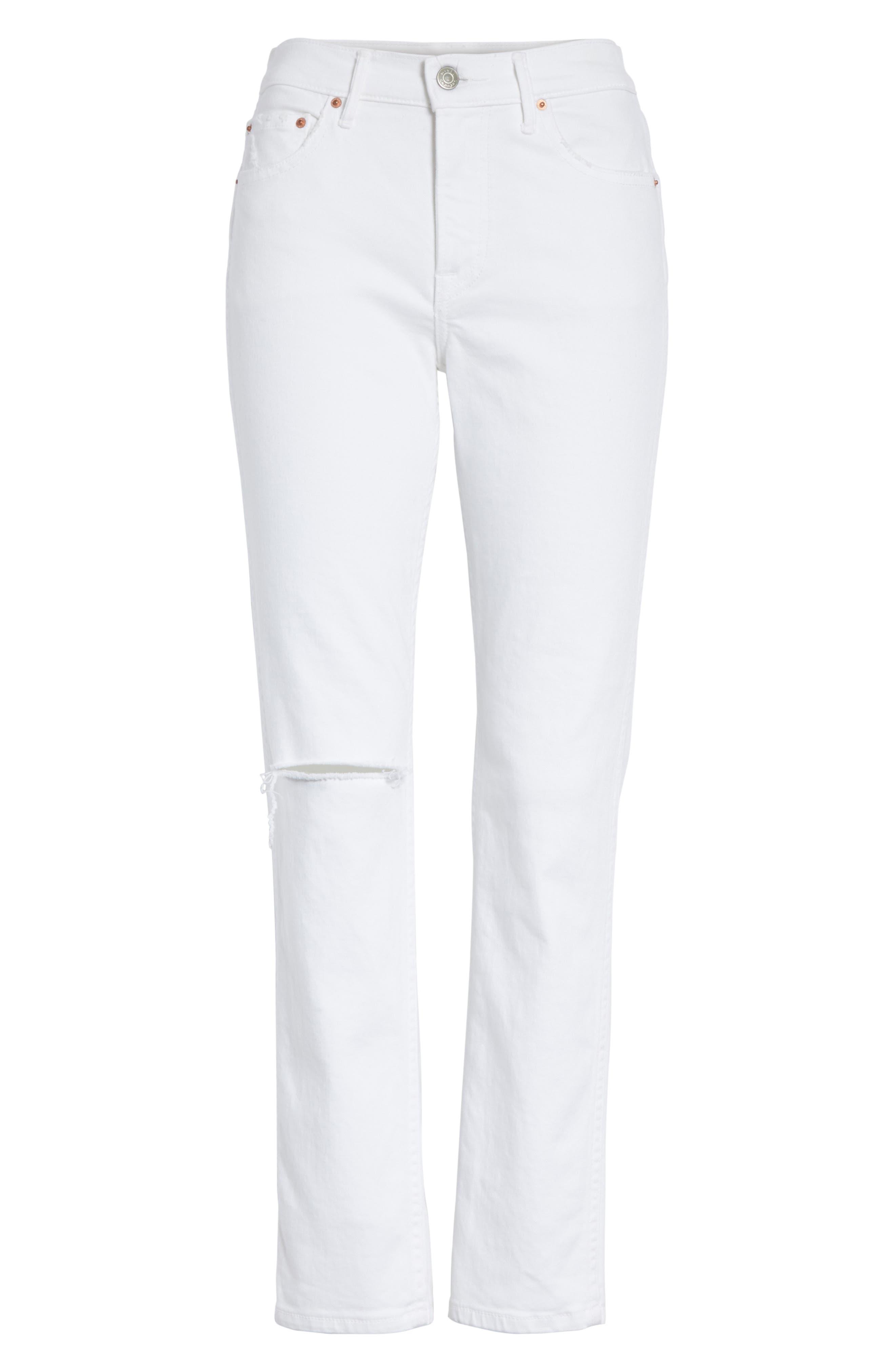 Naomi High Waist Skinny Jeans,                             Alternate thumbnail 6, color,                             100