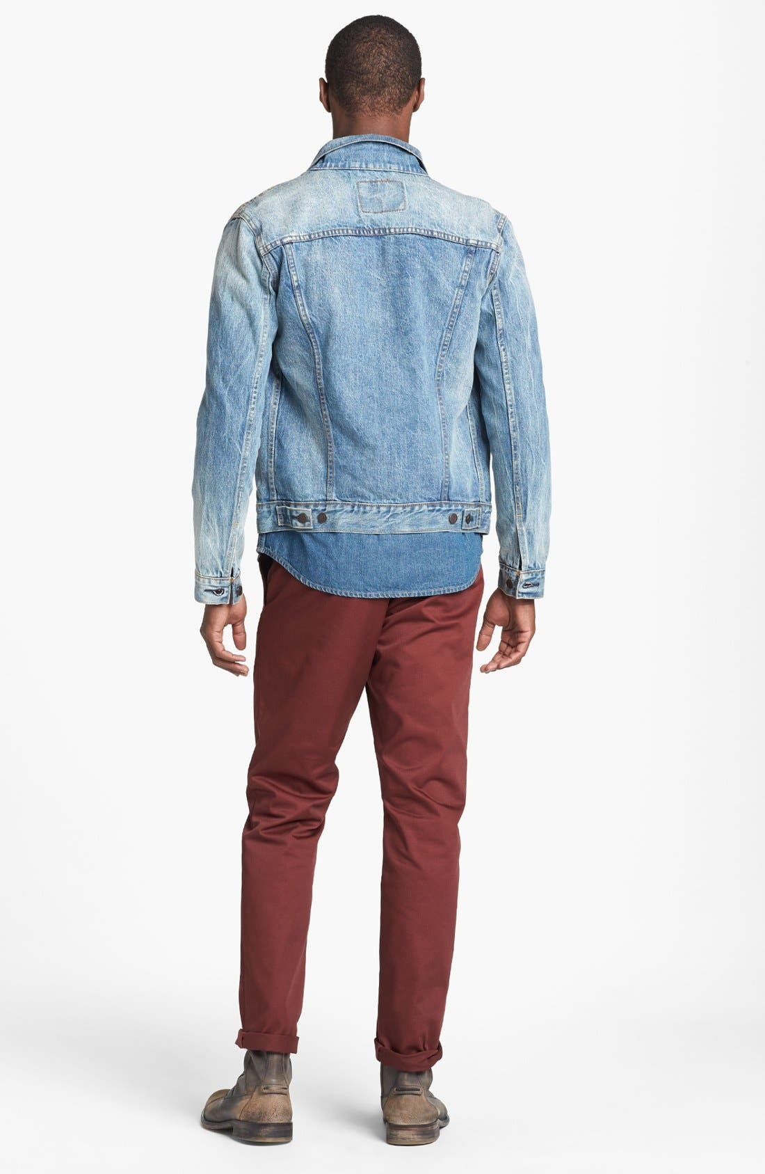 LEVI'S<SUP>®</SUP>,                             'Barstow' Western Denim Shirt,                             Alternate thumbnail 6, color,                             462
