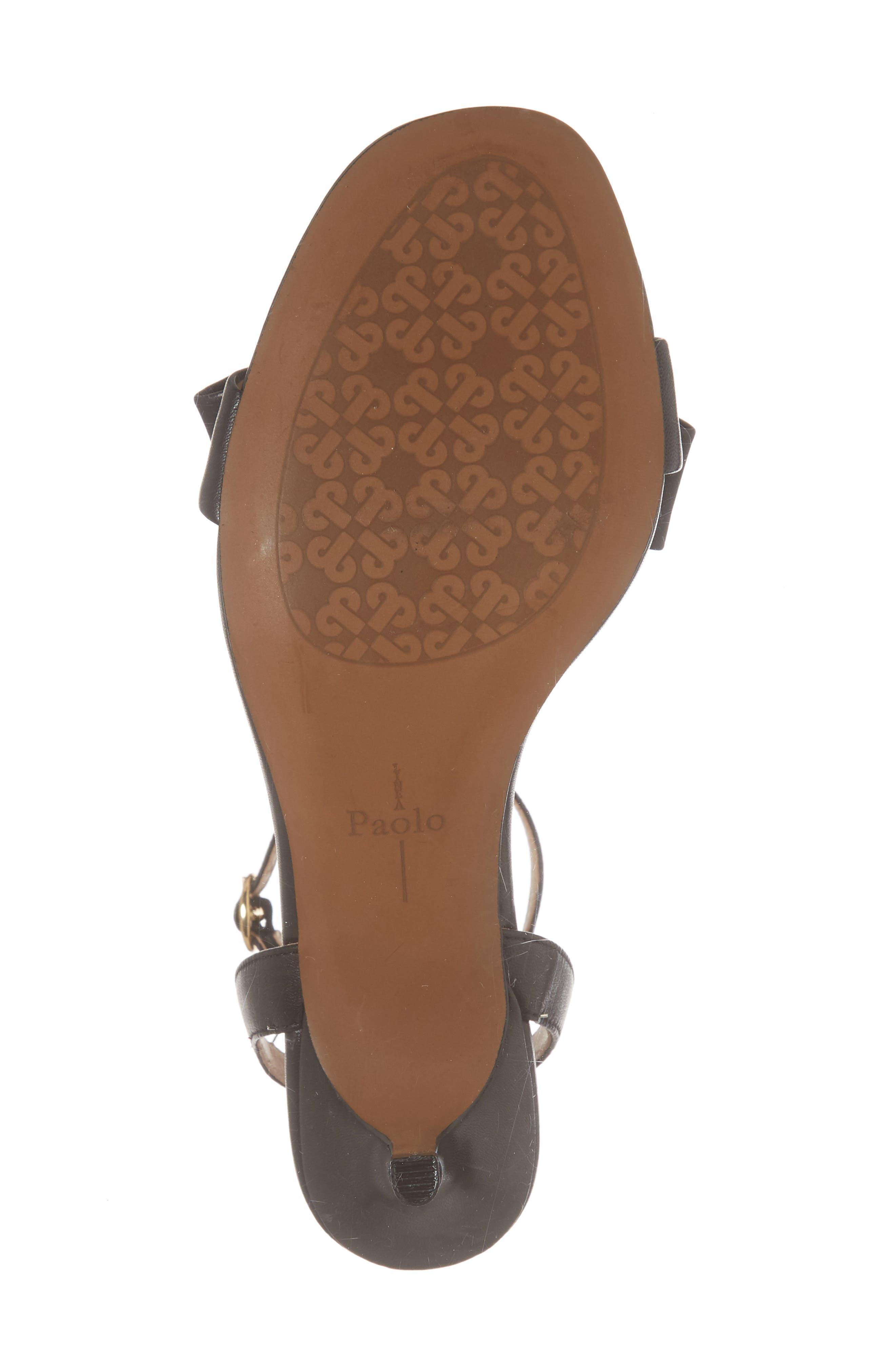 Haven Ankle Strap Sandal,                             Alternate thumbnail 6, color,                             BLACK LEATHER