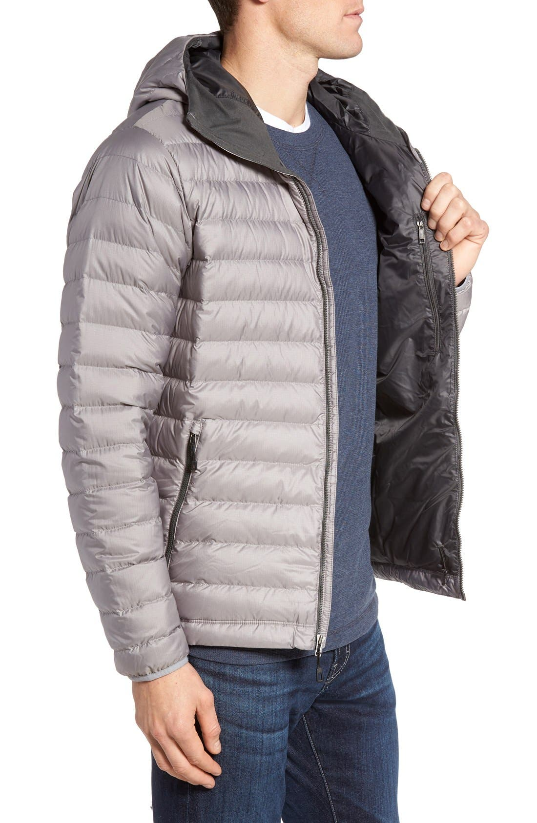 Packable Windproof & Water Resistant Goose Down Sweater Hooded Jacket,                             Alternate thumbnail 38, color,