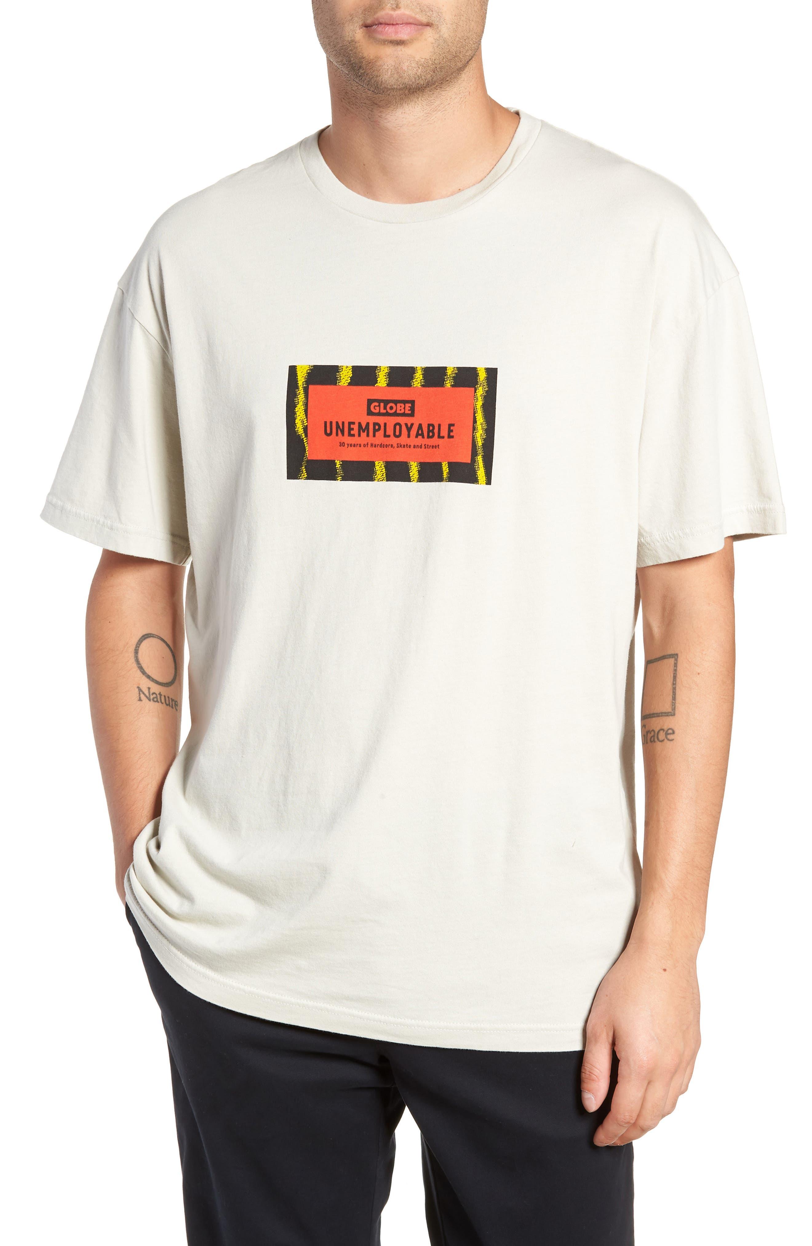 GLOBE,                             Unemployable Captain T-Shirt,                             Main thumbnail 1, color,                             900
