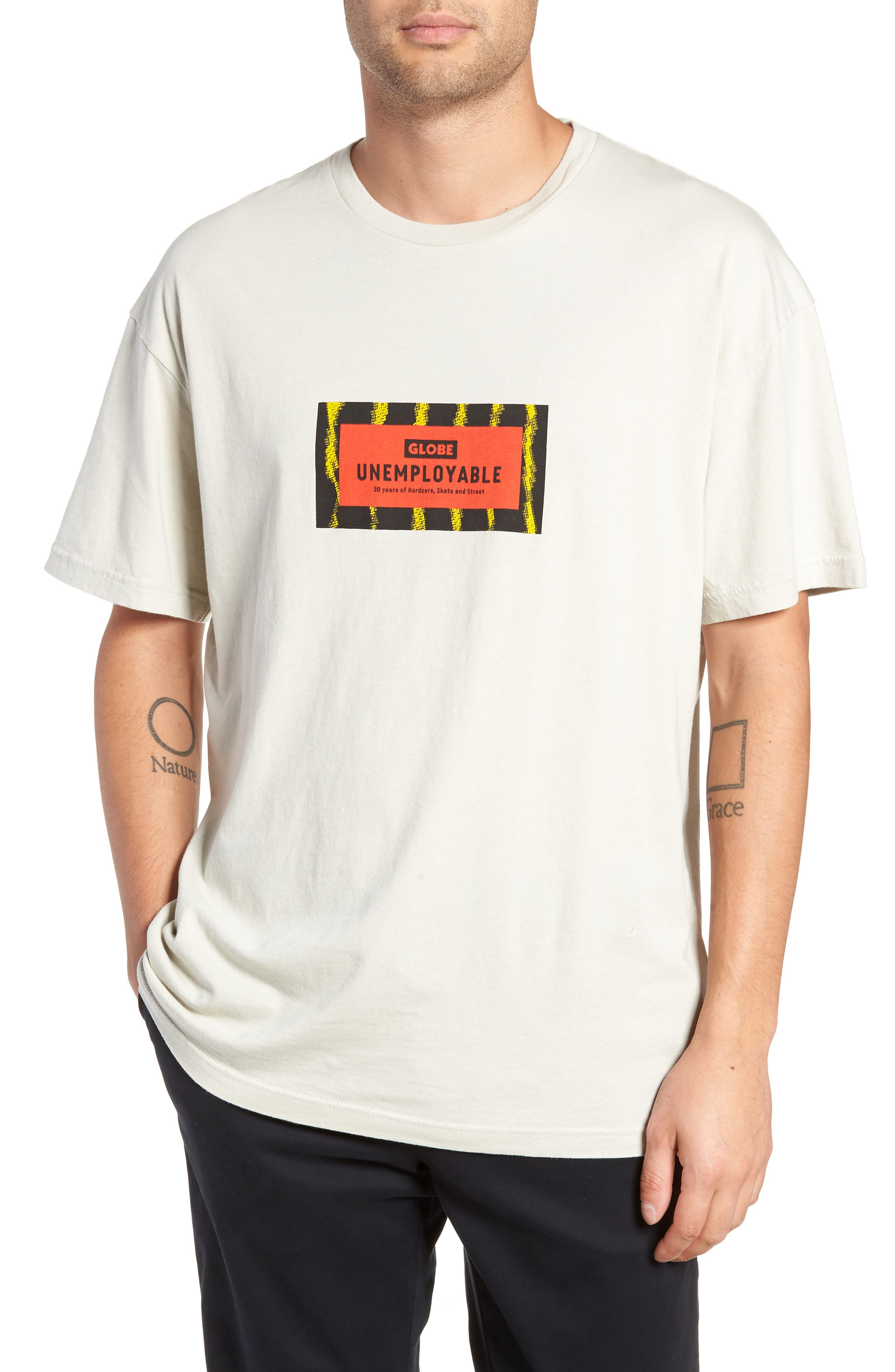 GLOBE Unemployable Captain T-Shirt, Main, color, 900