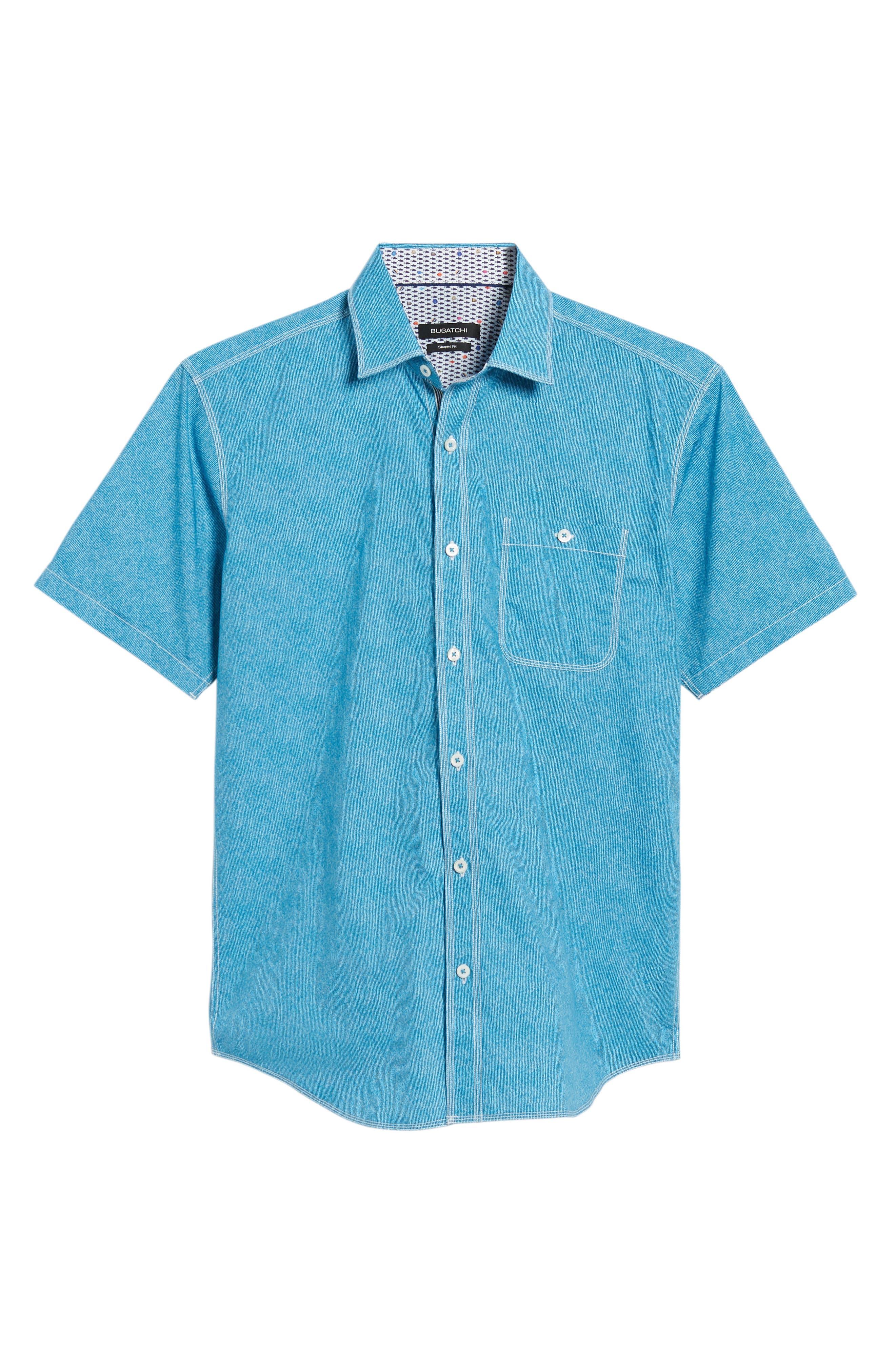 Shaped Fit Sport Shirt,                             Alternate thumbnail 21, color,