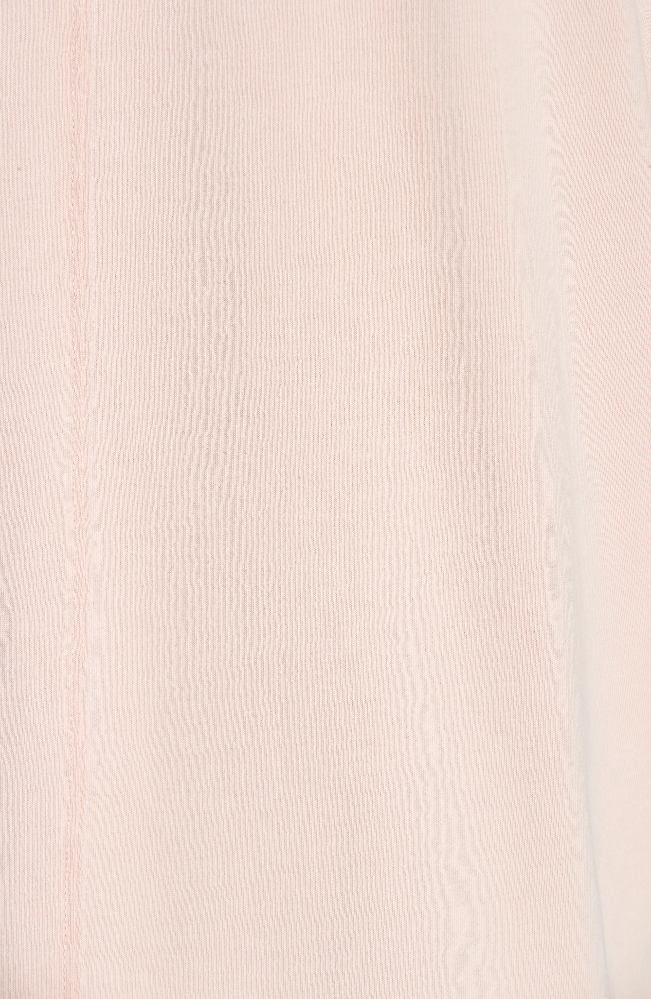Distressed Crewneck T-Shirt,                             Alternate thumbnail 5, color,                             SALMON