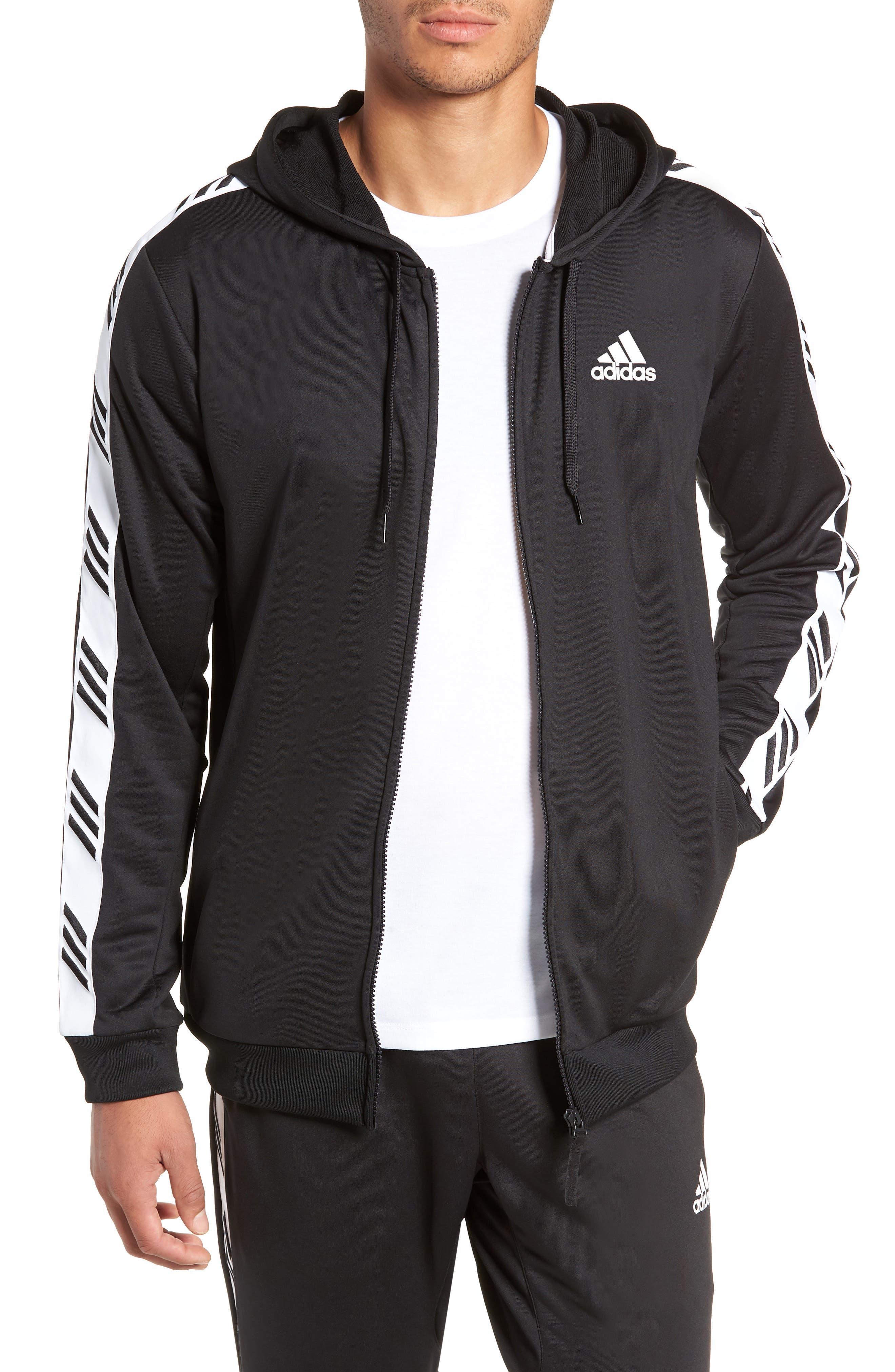 Technical Zip Hoodie, Main, color, BLACK
