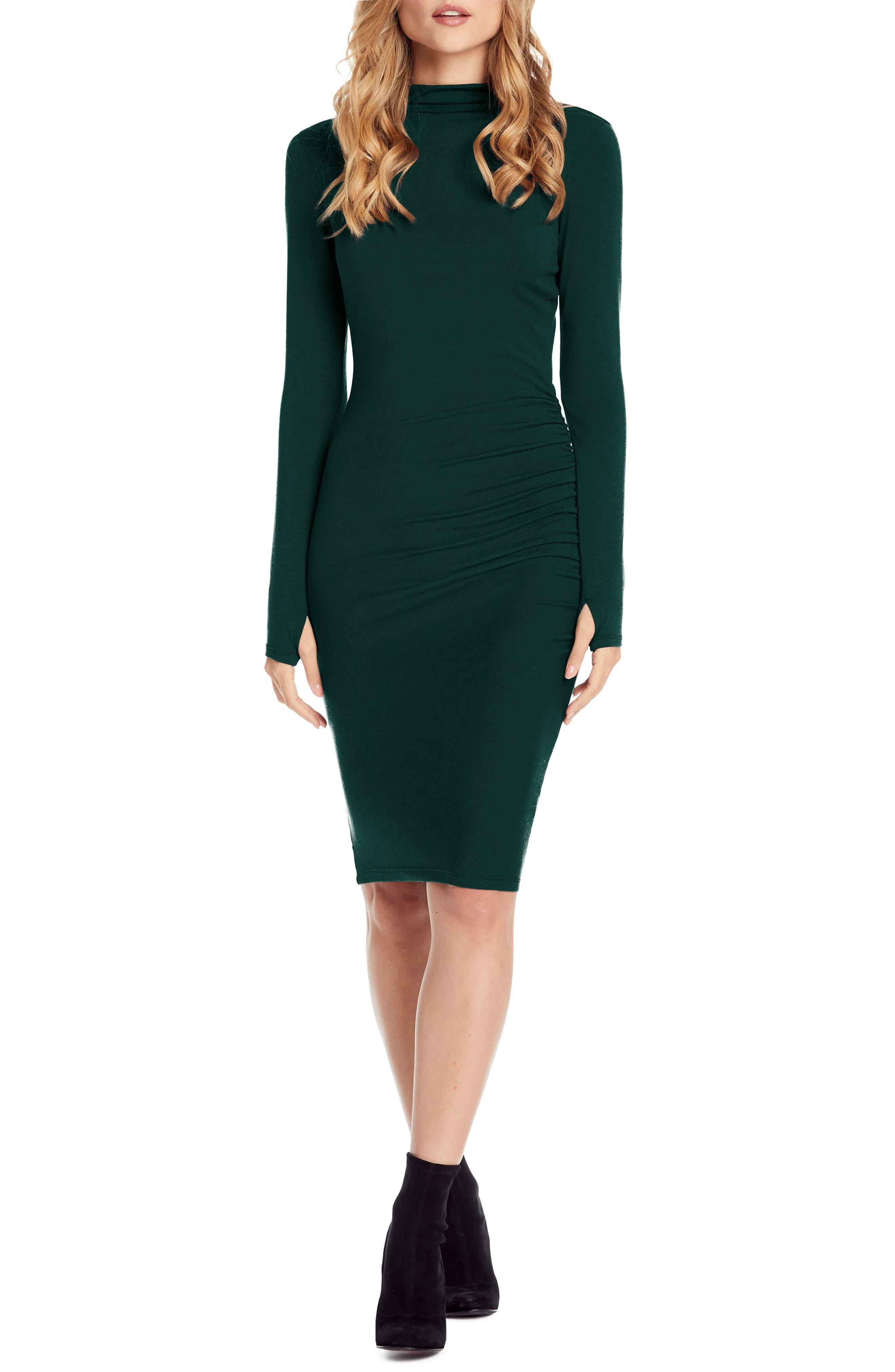 Michael Stars Jules Jersey Body-Con Dress, Green