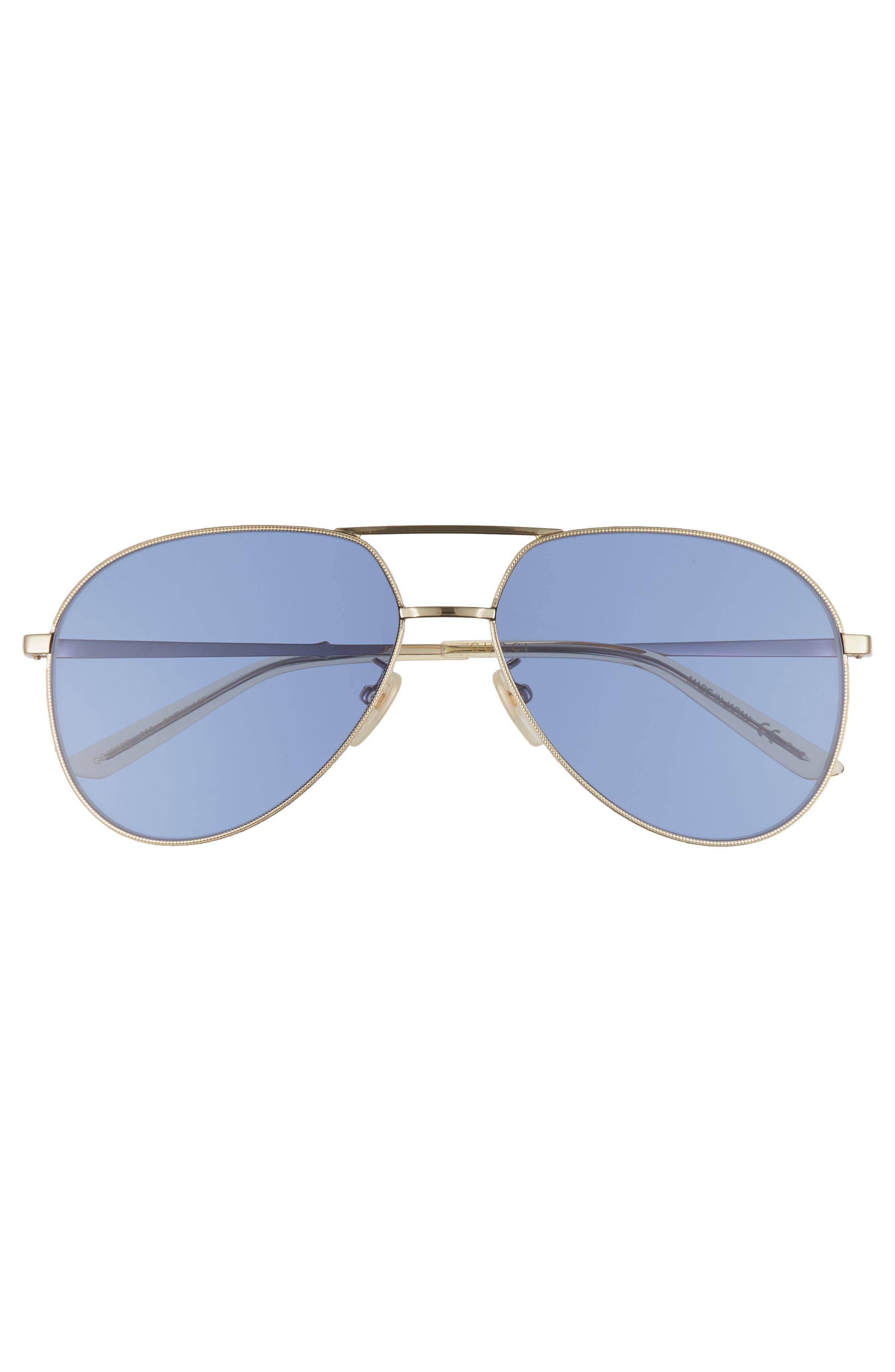 59mm Aviator Sunglasses,                             Alternate thumbnail 2, color,                             GOLD/ YELLOW