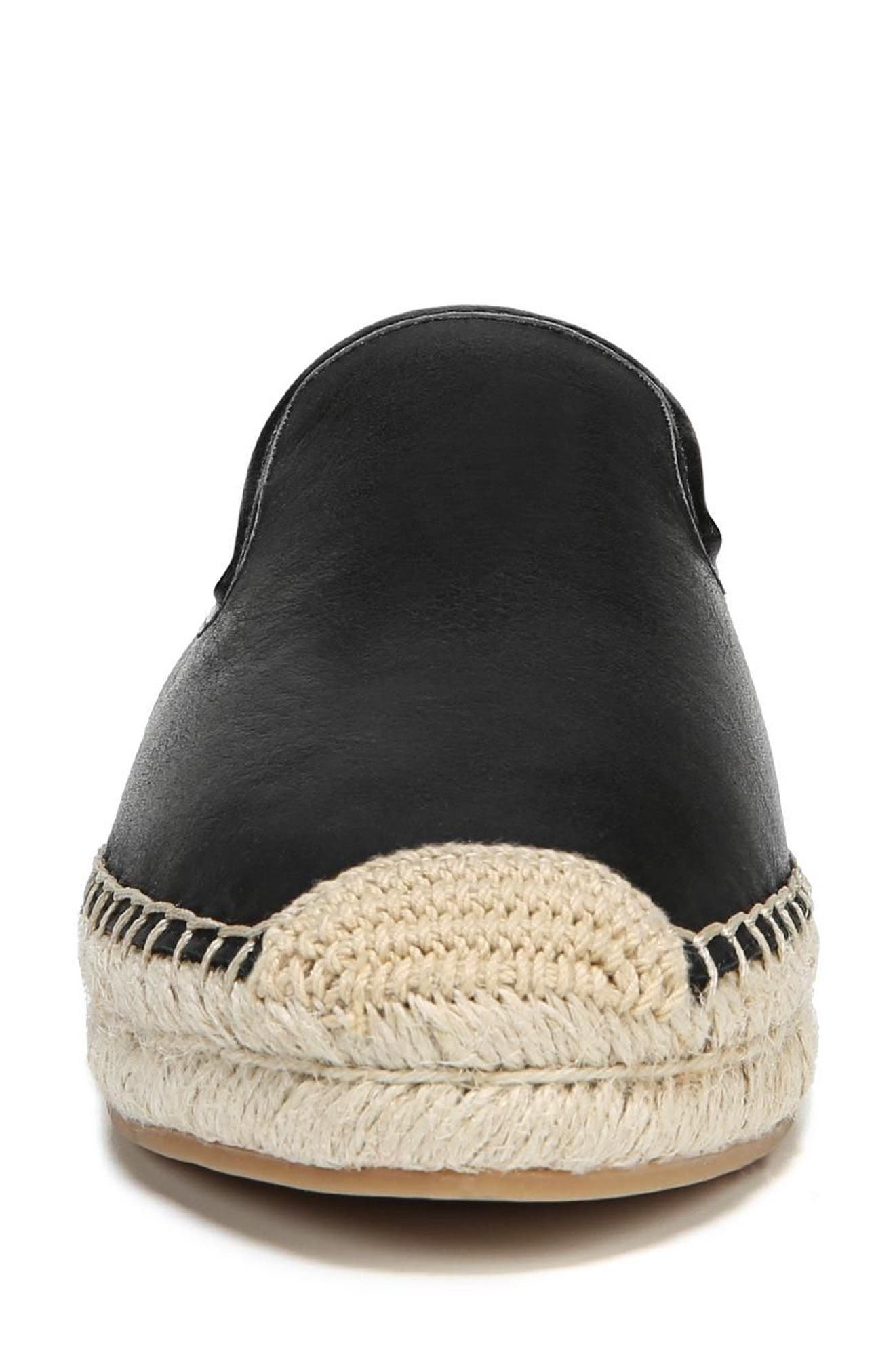 Kerry Genuine Calf Hair Espadrille Mule,                             Alternate thumbnail 4, color,                             001