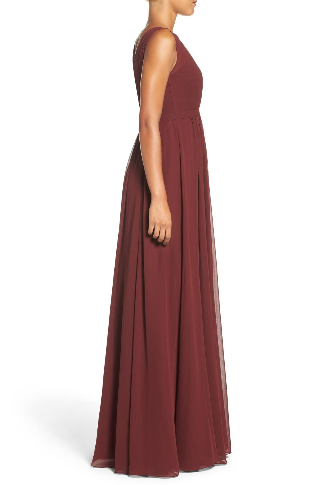 Vivienne Pleated Chiffon Gown,                             Alternate thumbnail 26, color,