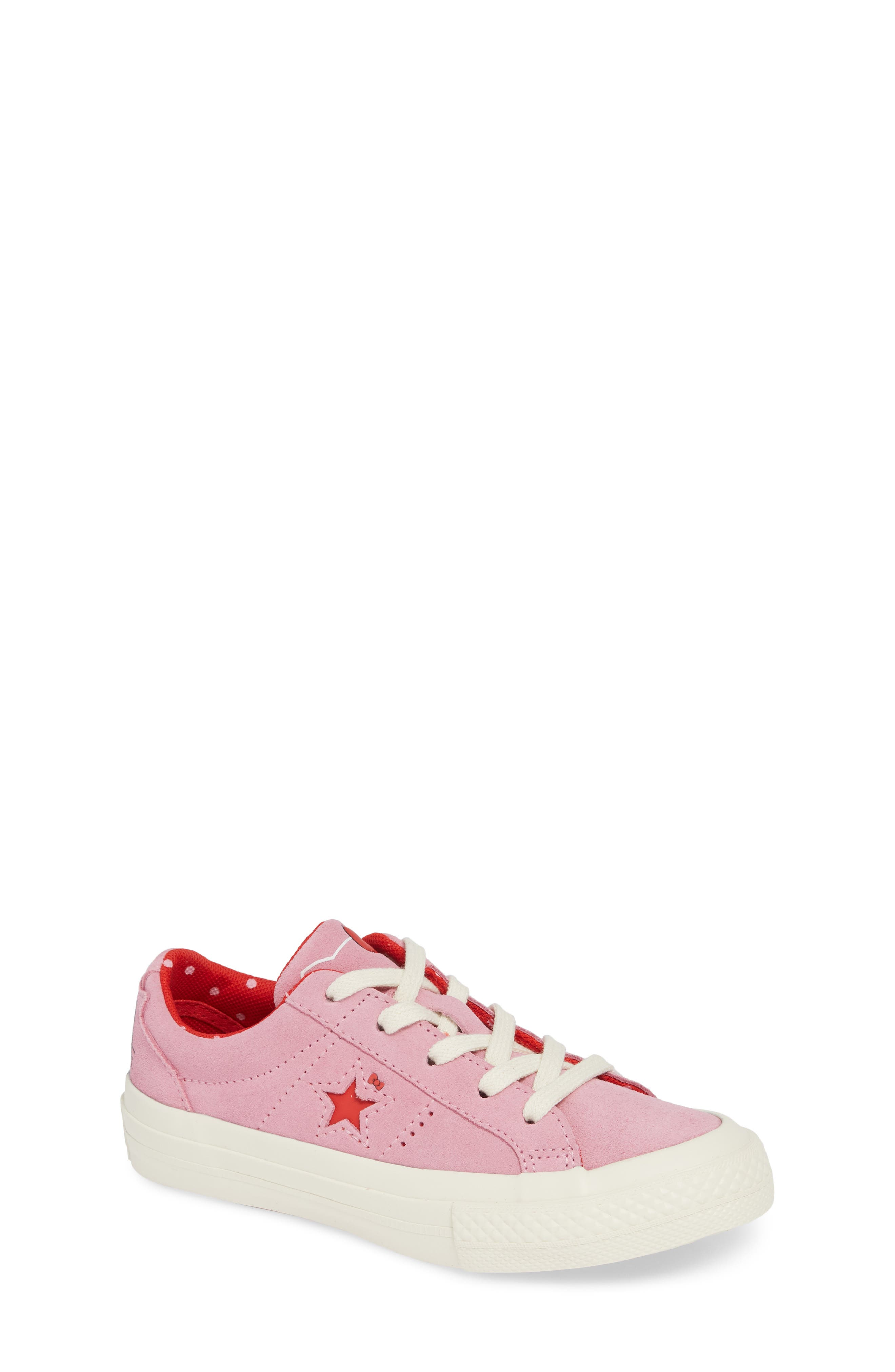 One Star Hello Kitty<sup>®</sup> Sneaker,                         Main,                         color, PINK PRISM