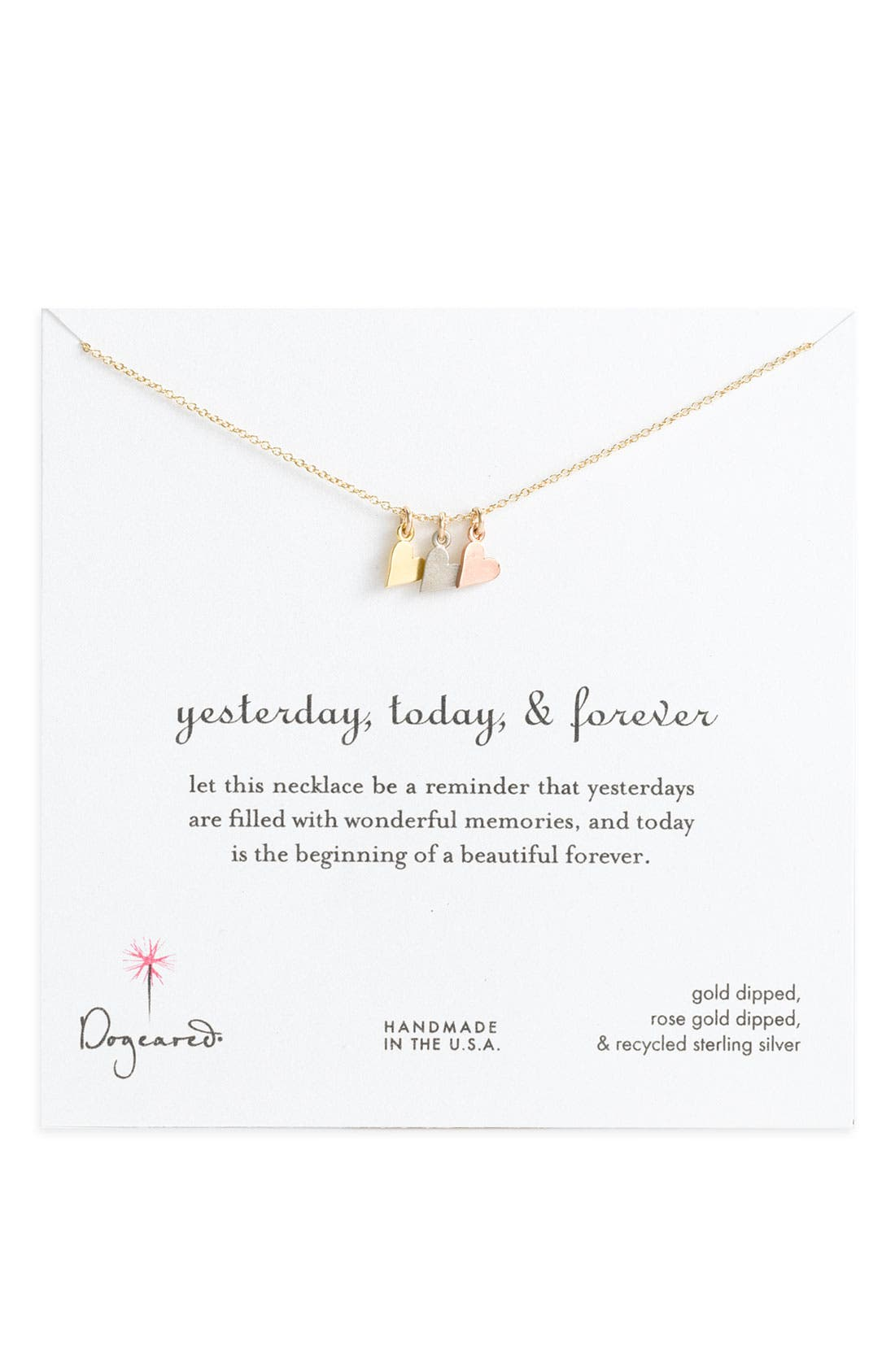'Yesterday, Today, Forever' Charm Necklace,                             Alternate thumbnail 4, color,                             962