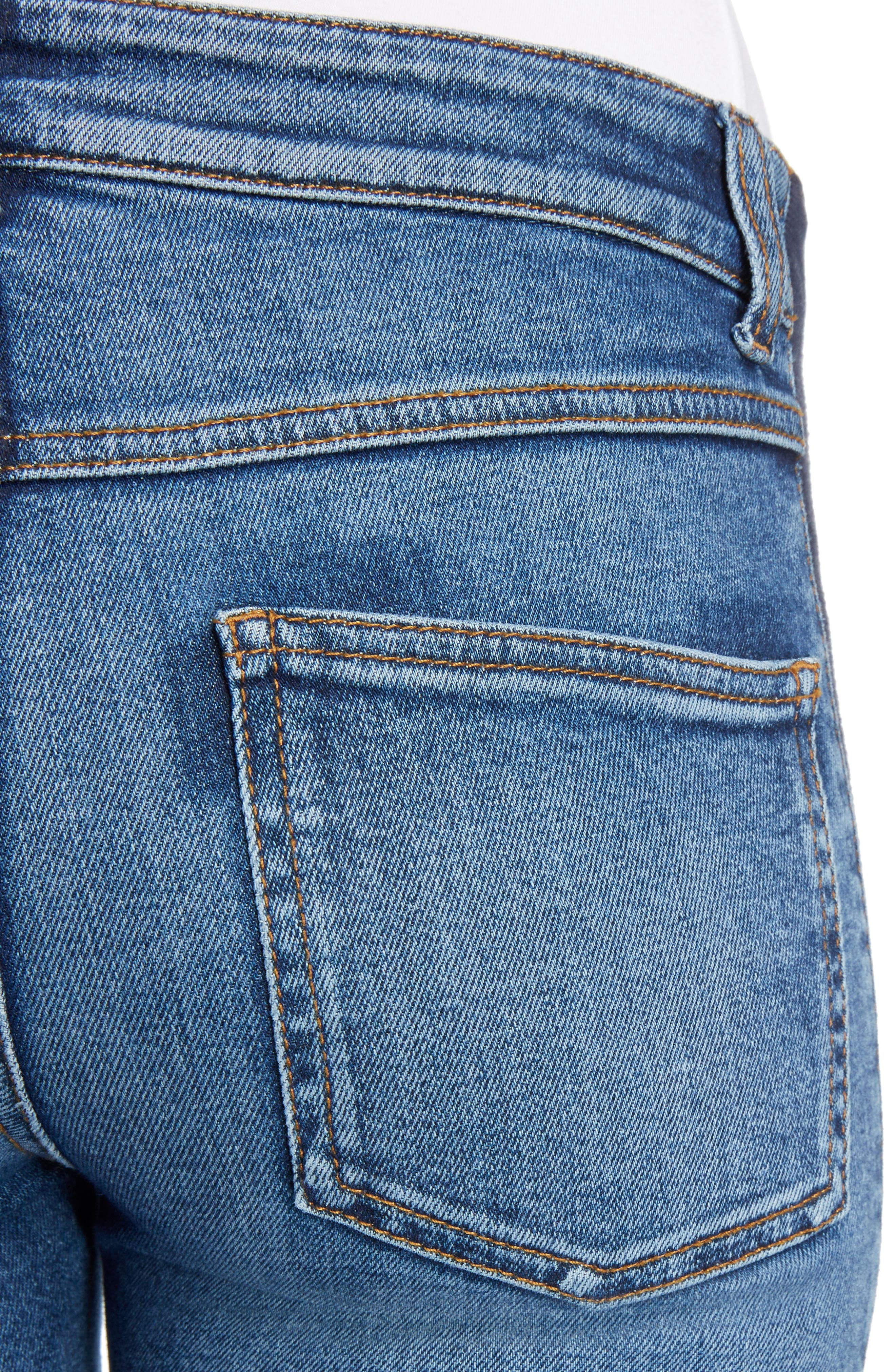 Side Stripe Crop Skinny Jeans,                             Alternate thumbnail 4, color,
