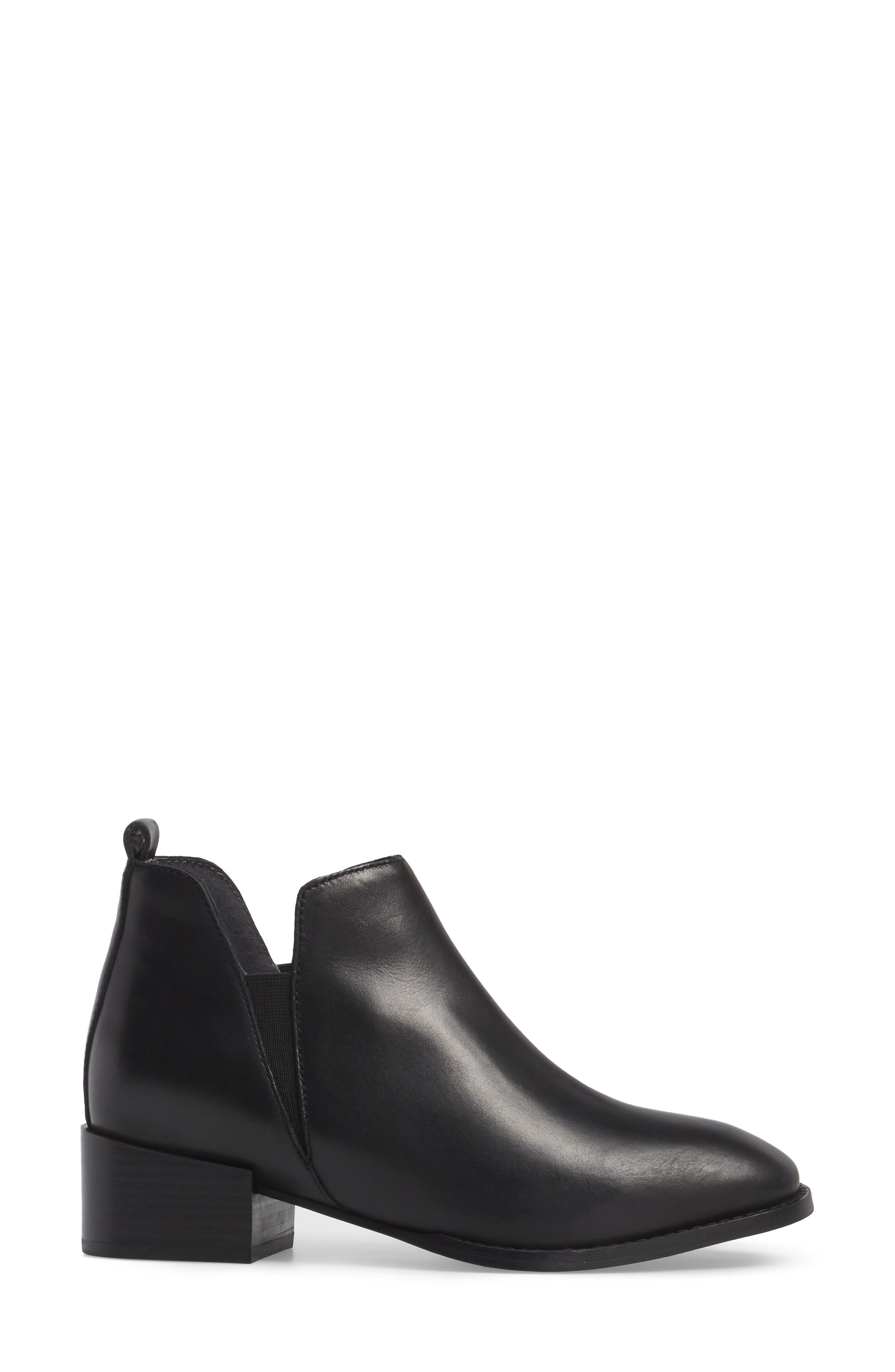 Offstage Boot,                             Alternate thumbnail 3, color,                             BLACK LEATHER