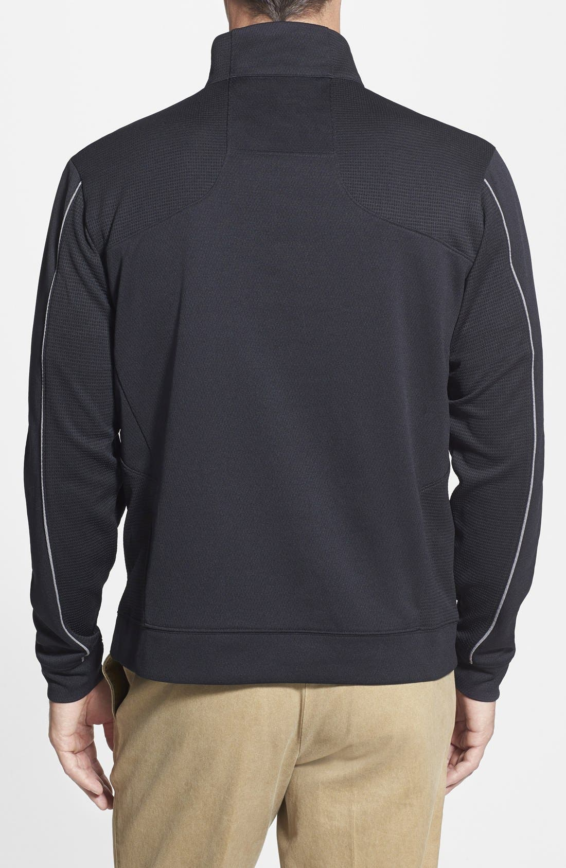 'Pittsburgh Steelers - Edge' DryTec Moisture Wicking Half Zip Pullover,                             Alternate thumbnail 2, color,                             001